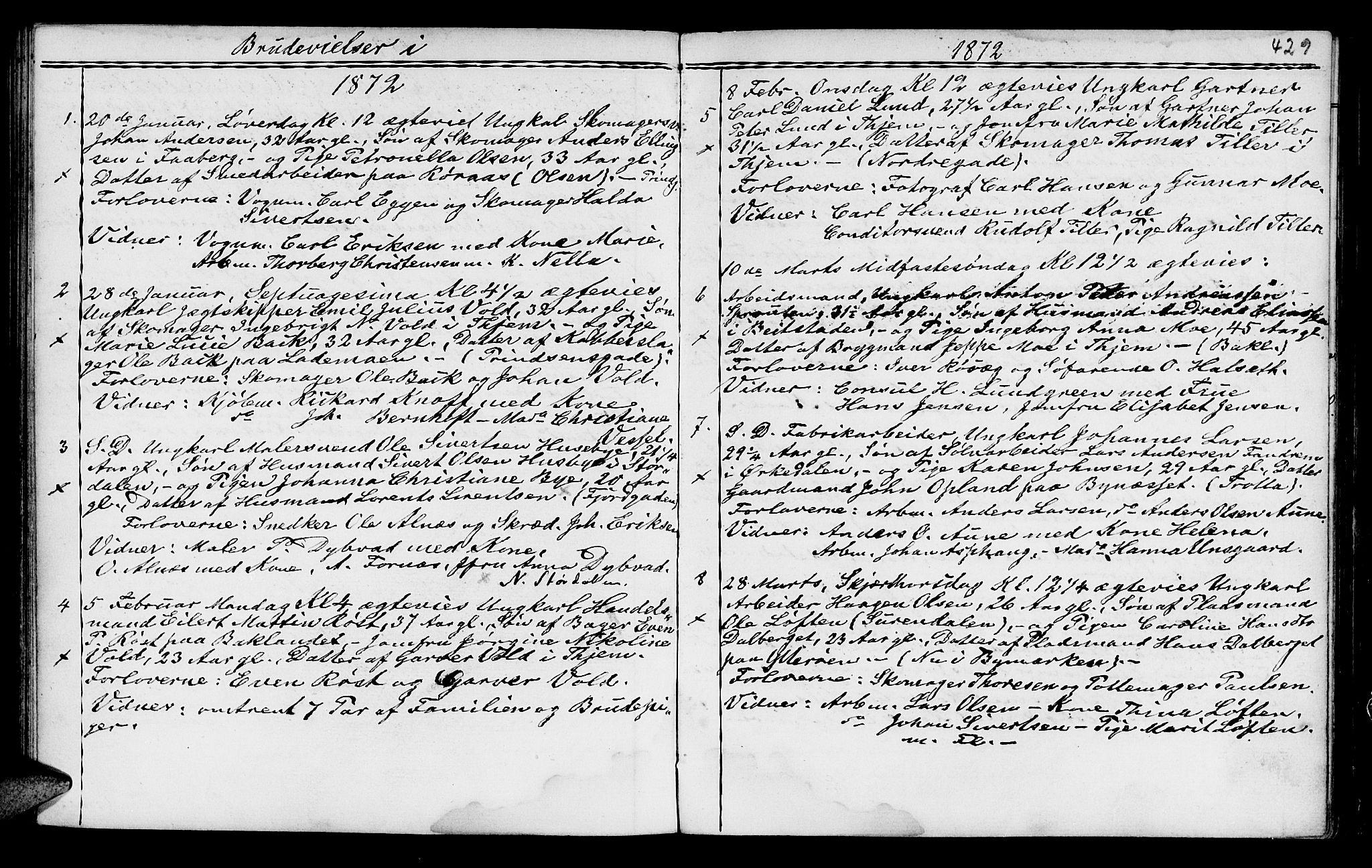 SAT, Ministerialprotokoller, klokkerbøker og fødselsregistre - Sør-Trøndelag, 602/L0140: Klokkerbok nr. 602C08, 1864-1872, s. 428-429