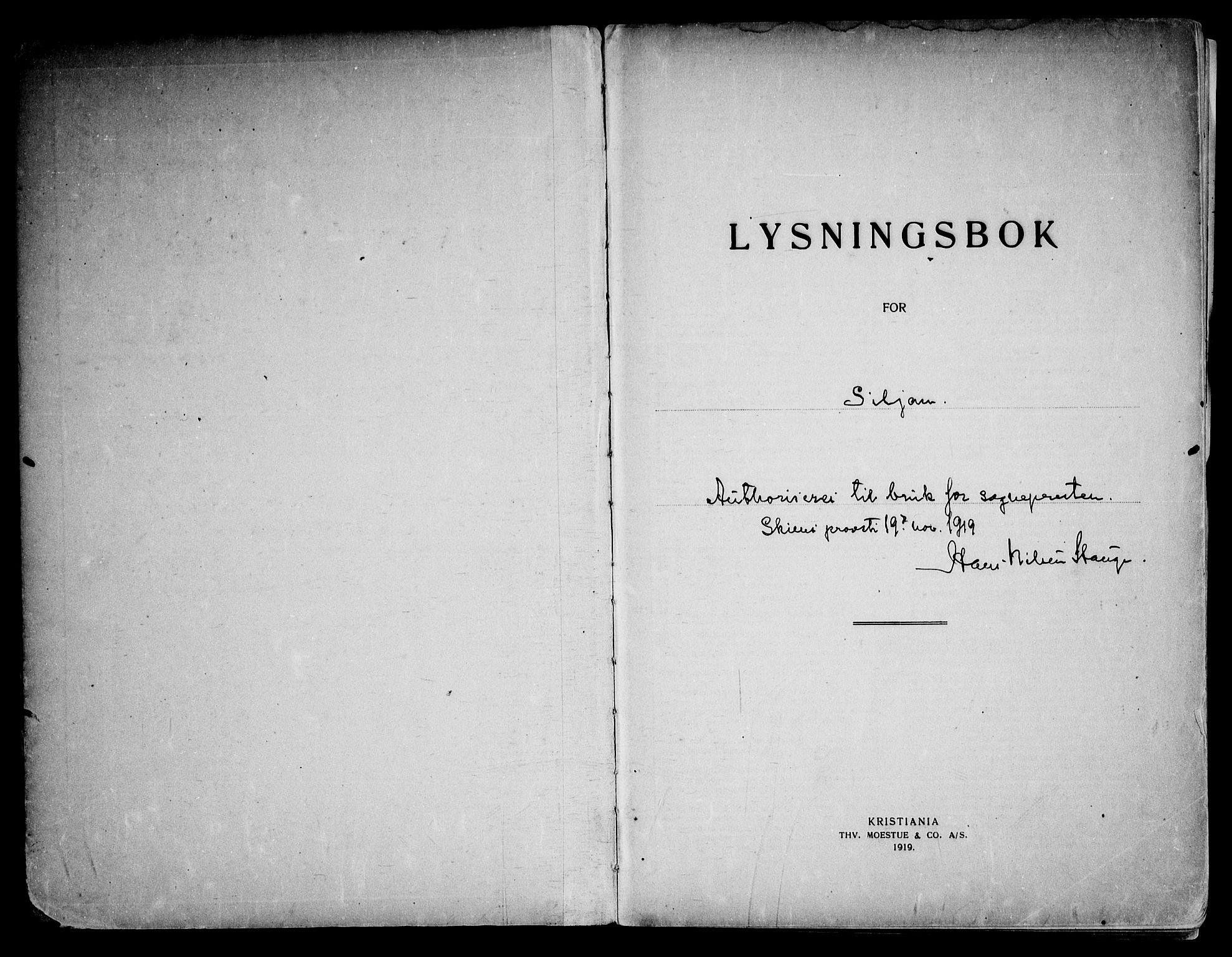 SAKO, Siljan kirkebøker, H/Ha/L0001: Lysningsprotokoll nr. 1, 1919-1975