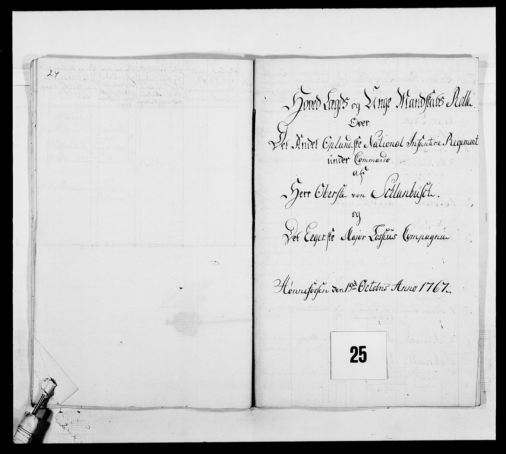RA, Kommanderende general (KG I) med Det norske krigsdirektorium, E/Ea/L0507: 2. Opplandske regiment, 1766-1767, s. 537
