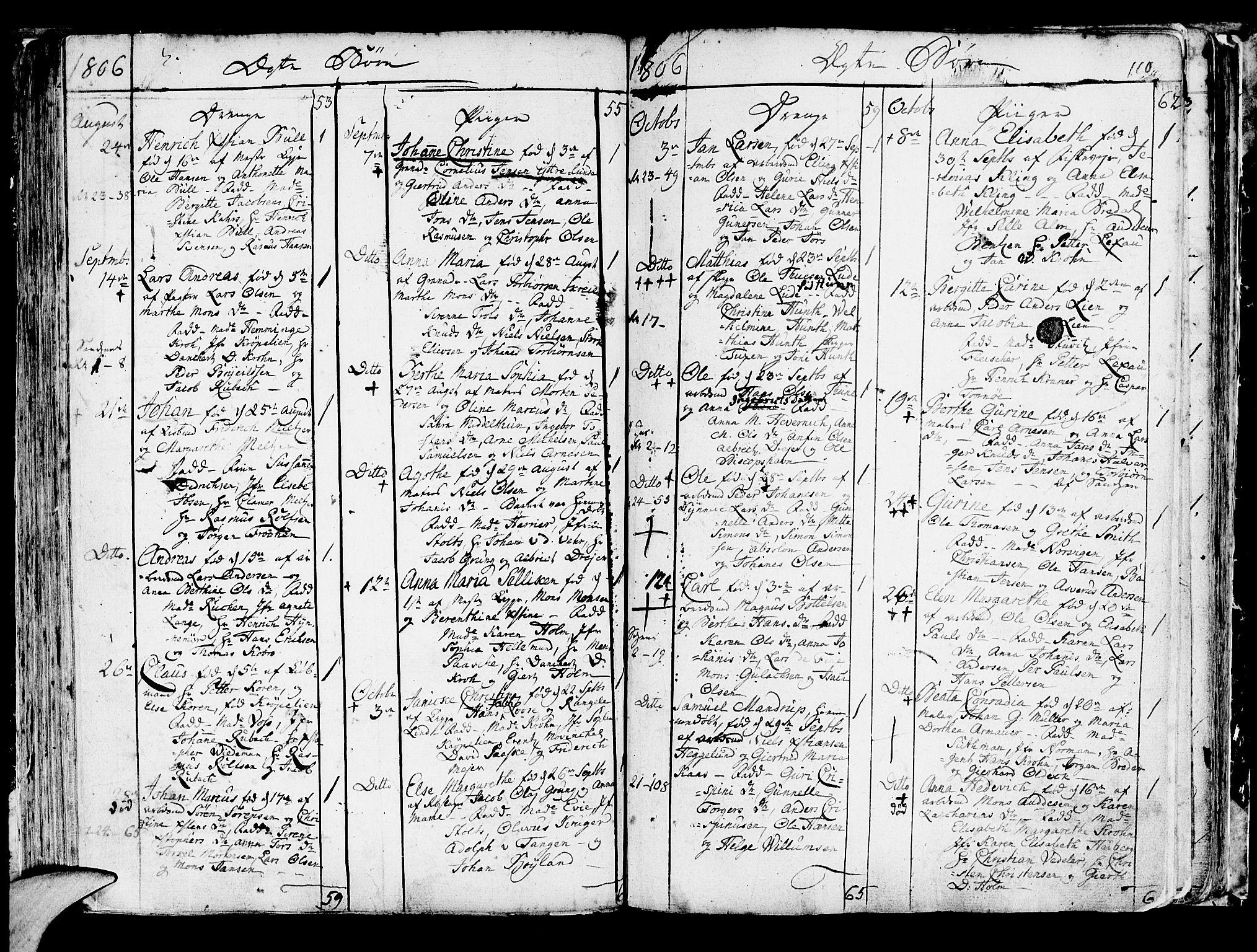 SAB, Korskirken Sokneprestembete, H/Haa/L0006: Ministerialbok nr. A 6, 1790-1820, s. 110