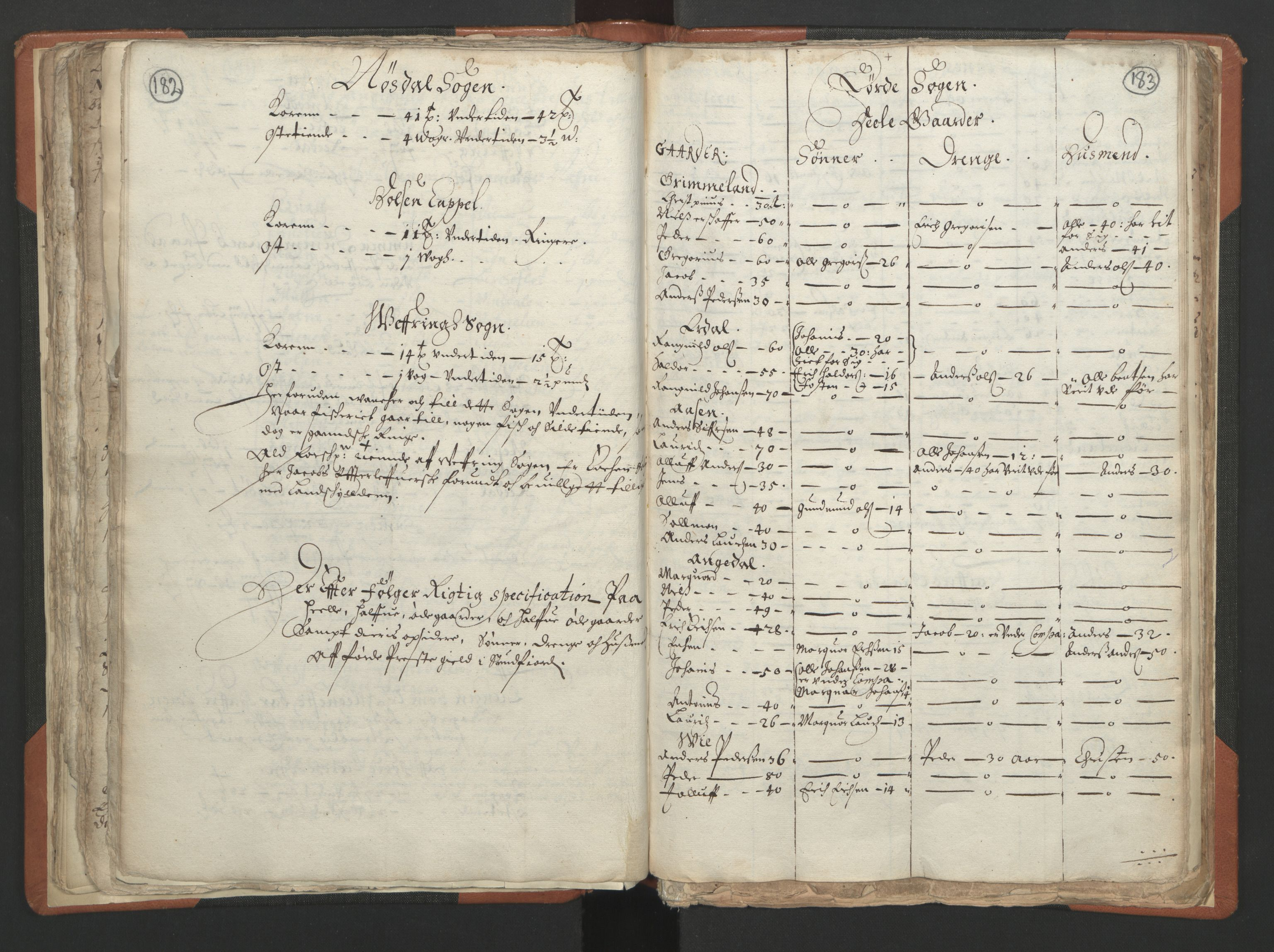 RA, Sogneprestenes manntall 1664-1666, nr. 24: Sunnfjord prosti, 1664-1666, s. 182-183