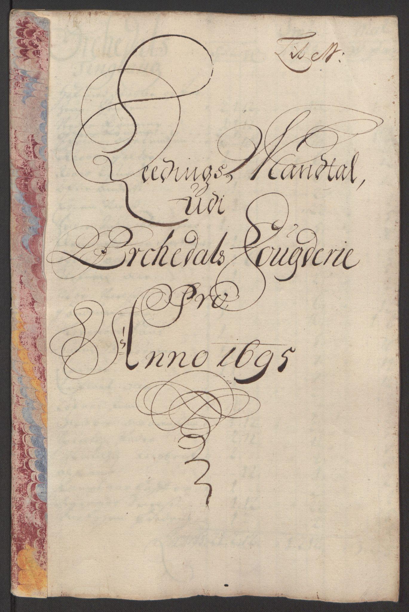 RA, Rentekammeret inntil 1814, Reviderte regnskaper, Fogderegnskap, R60/L3945: Fogderegnskap Orkdal og Gauldal, 1695, s. 192