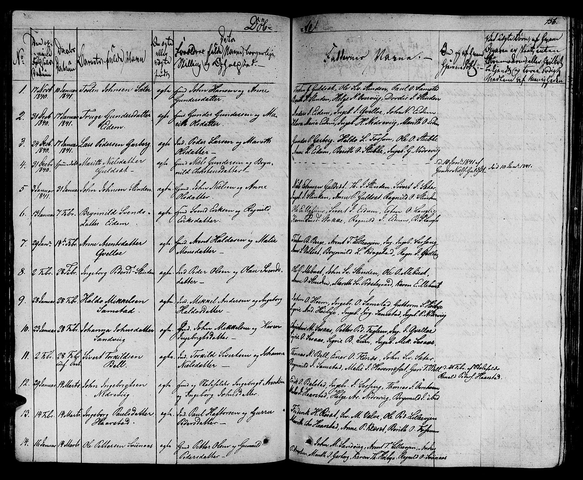 SAT, Ministerialprotokoller, klokkerbøker og fødselsregistre - Sør-Trøndelag, 695/L1143: Ministerialbok nr. 695A05 /1, 1824-1842, s. 156