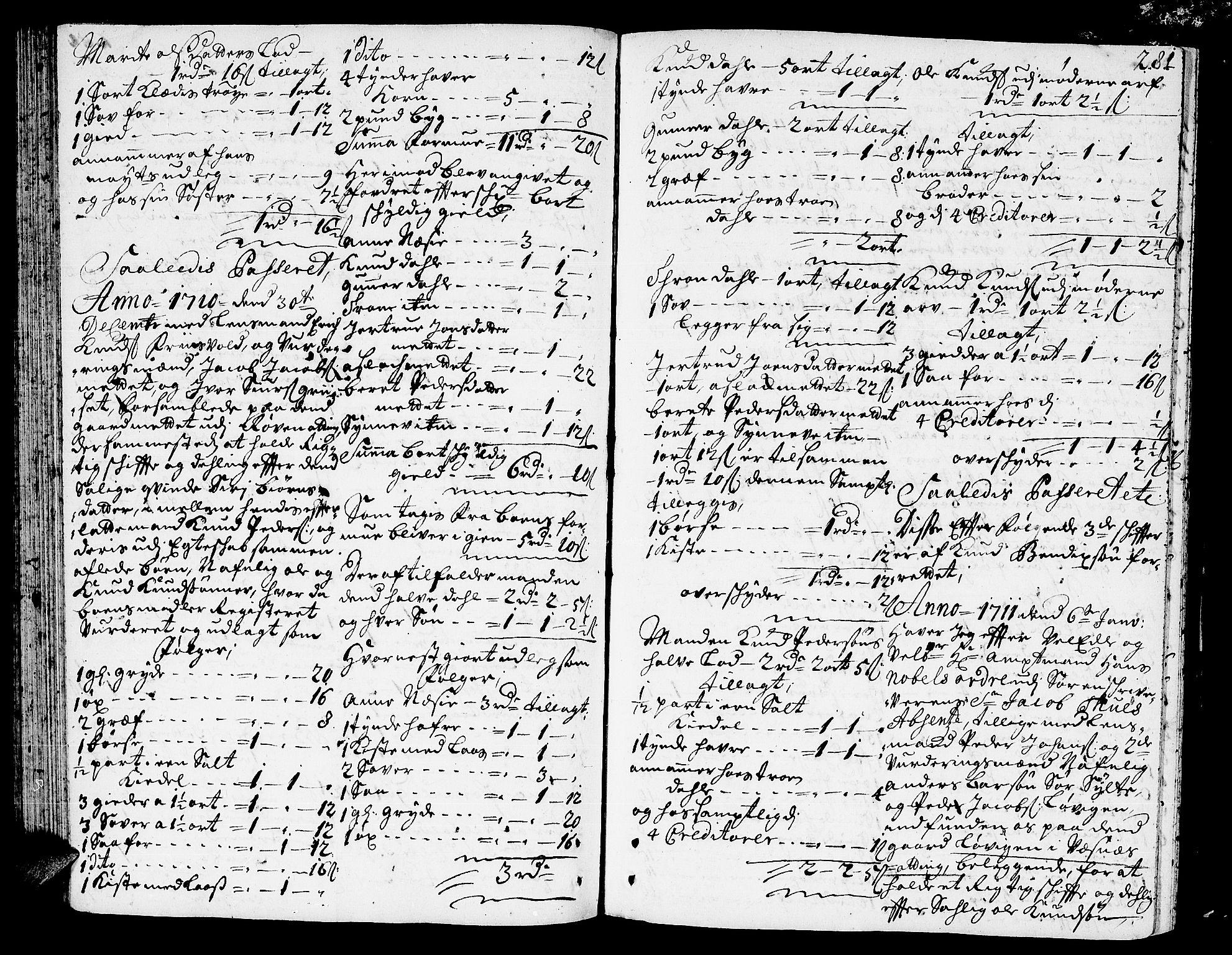 SAT, Romsdal sorenskriveri, 3/3A/L0005: Skifteprotokoll, 1707-1711, s. 280b-281a