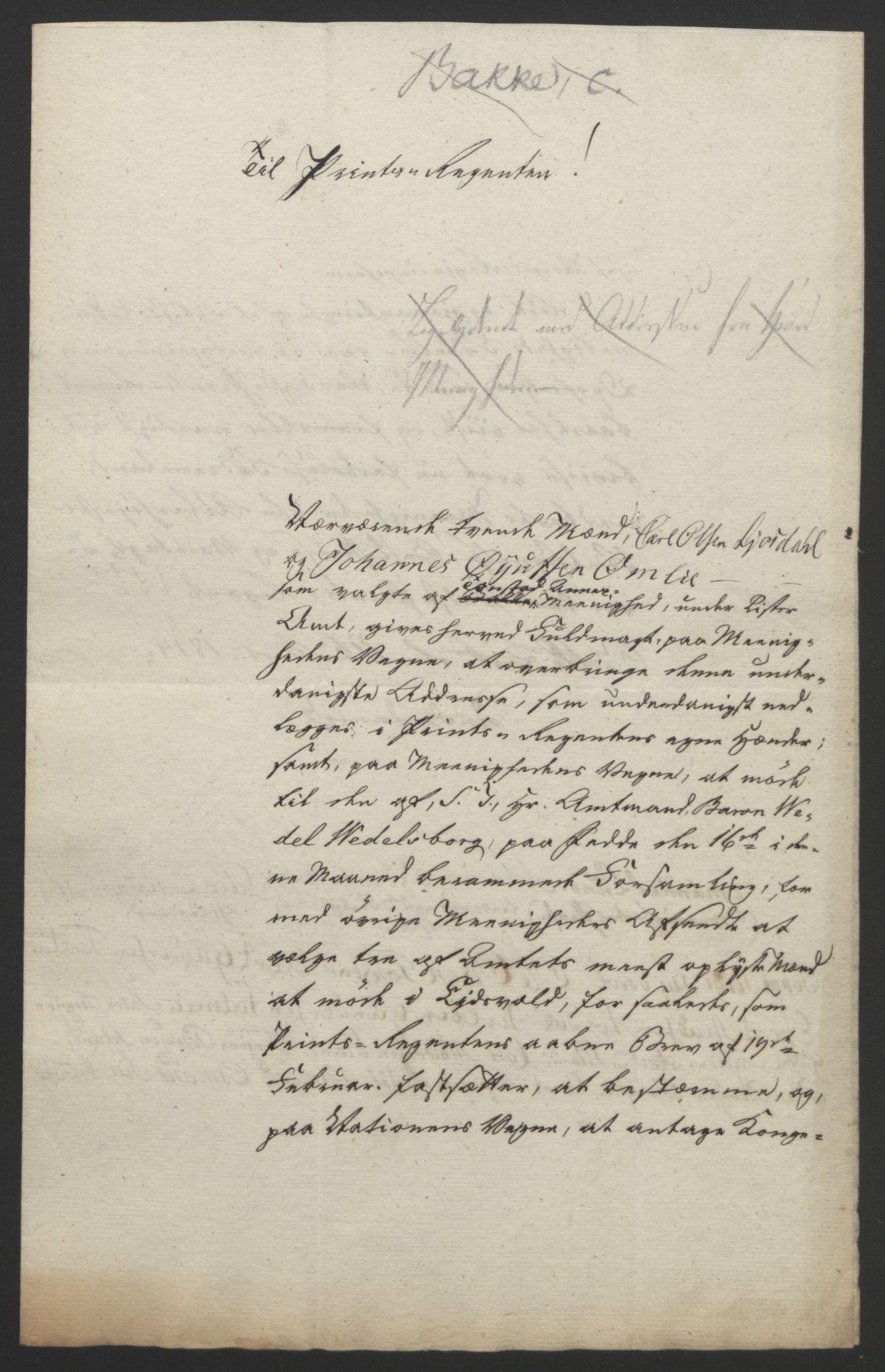 RA, Statsrådssekretariatet, D/Db/L0008: Fullmakter for Eidsvollsrepresentantene i 1814. , 1814, s. 157