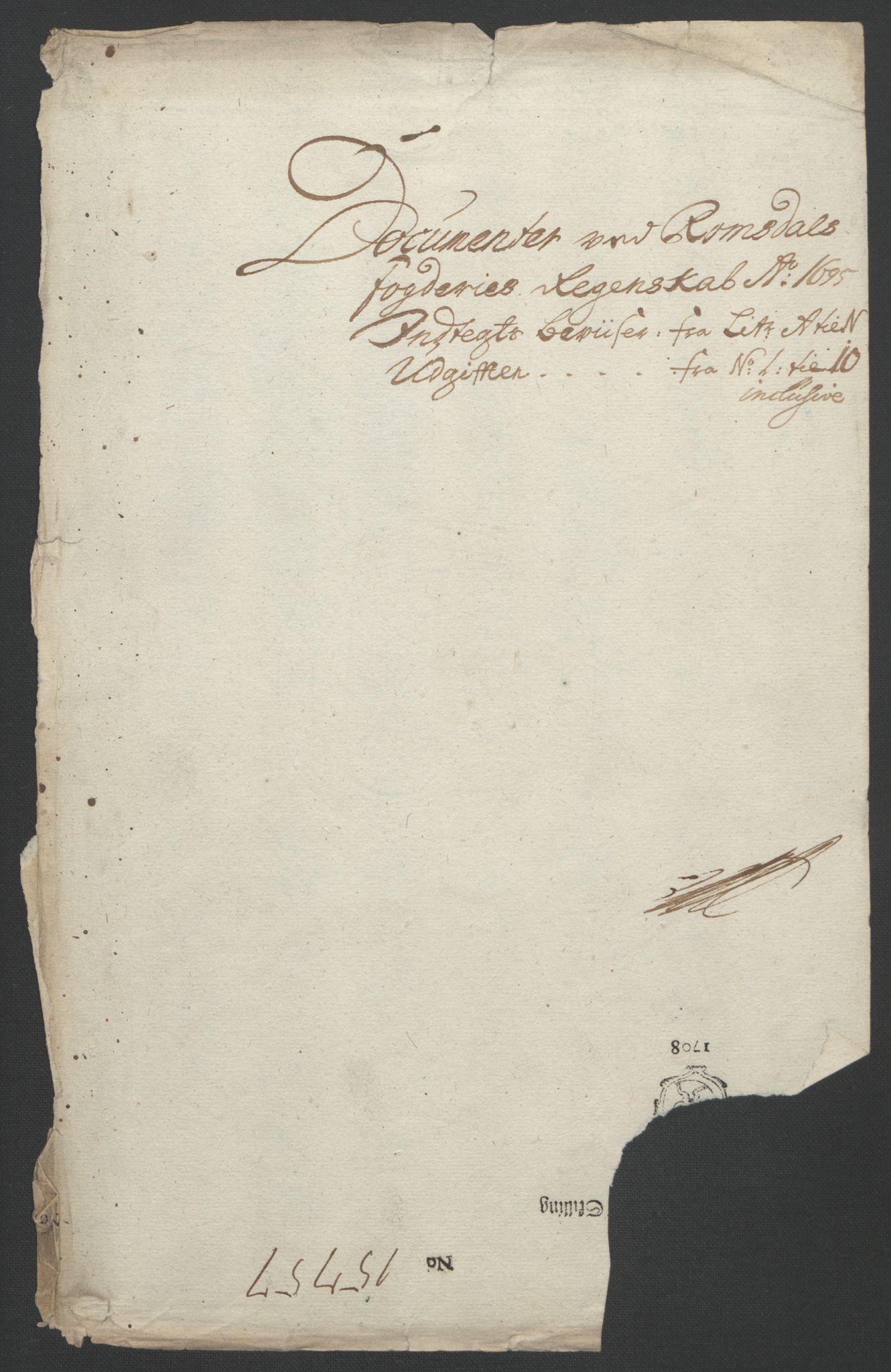 RA, Rentekammeret inntil 1814, Reviderte regnskaper, Fogderegnskap, R55/L3652: Fogderegnskap Romsdal, 1695-1696, s. 131