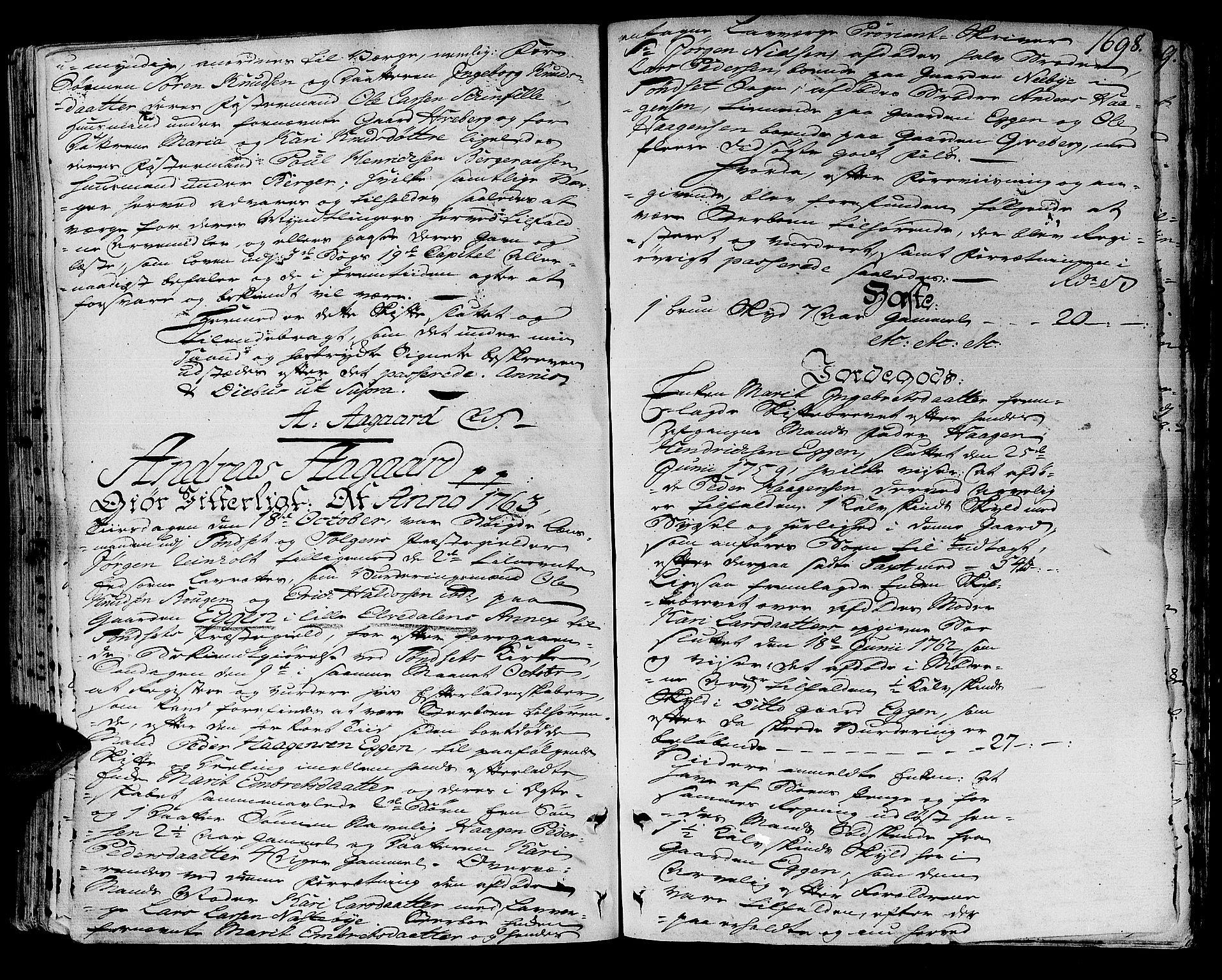 SAH, Solør og Østerdalen sorenskriveri, J/Ja/L0012A: Skifteprotokoll, 1757-1764, s. 1697b-1698a