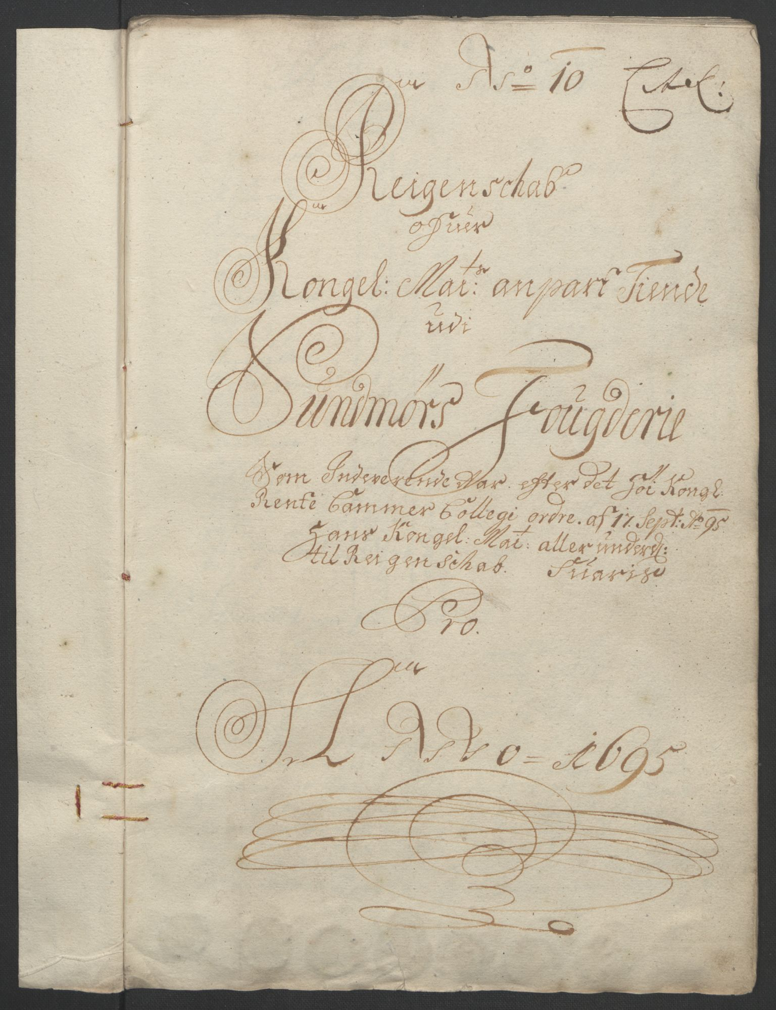 RA, Rentekammeret inntil 1814, Reviderte regnskaper, Fogderegnskap, R54/L3555: Fogderegnskap Sunnmøre, 1694-1695, s. 313