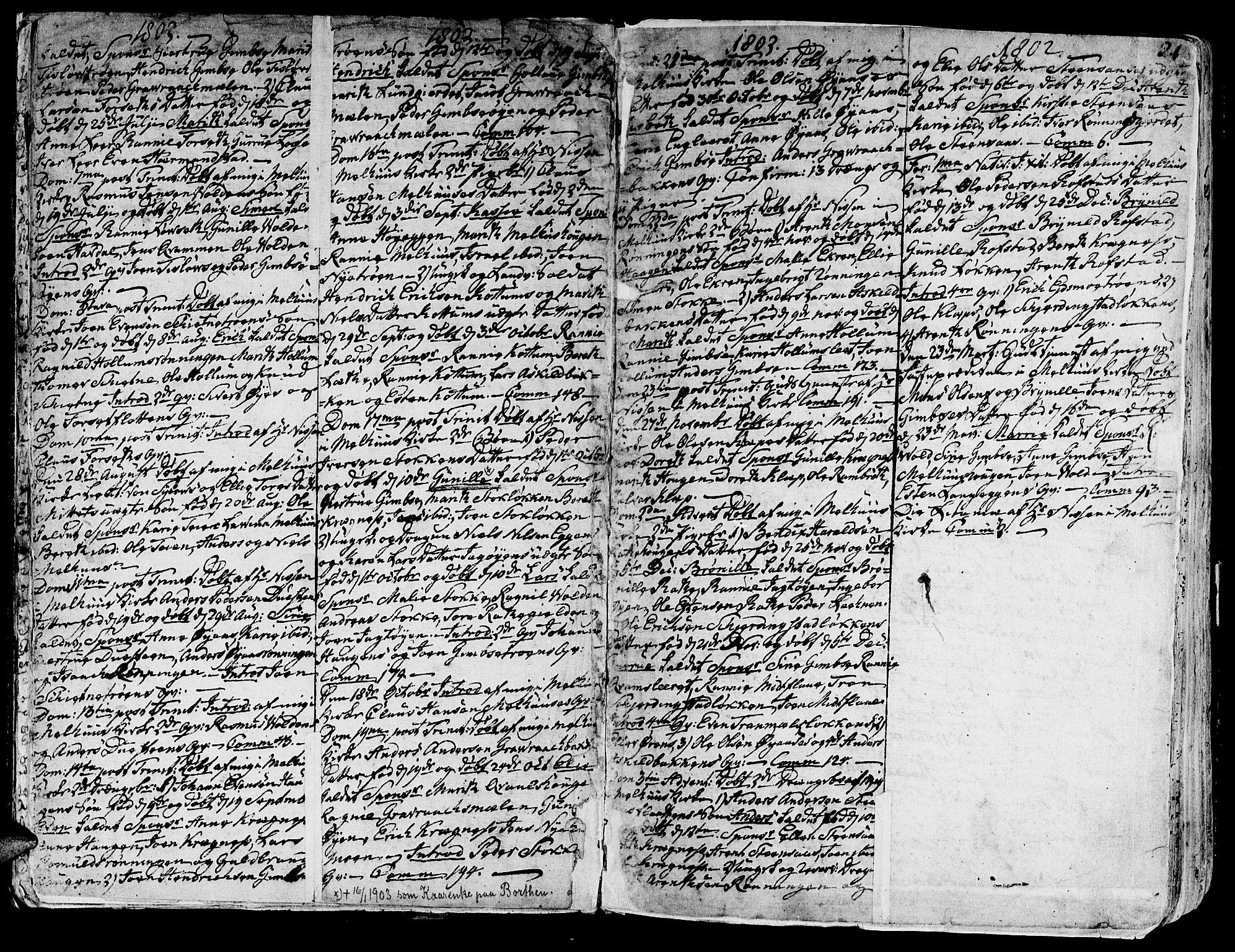 SAT, Ministerialprotokoller, klokkerbøker og fødselsregistre - Sør-Trøndelag, 691/L1061: Ministerialbok nr. 691A02 /1, 1768-1815, s. 21