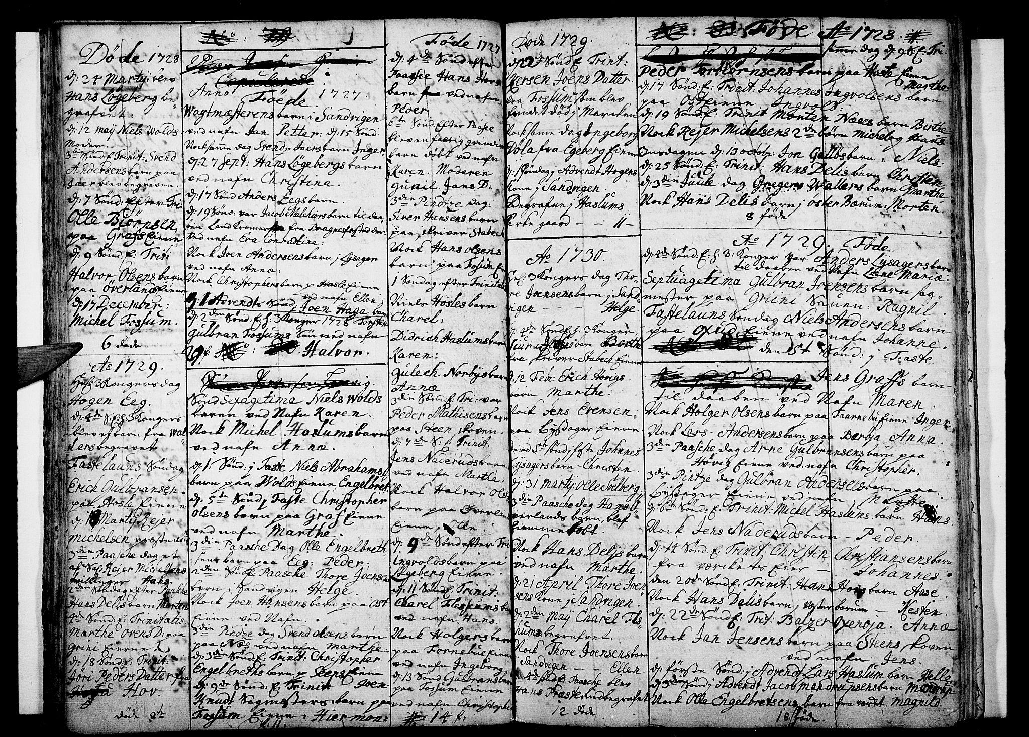 SAO, Asker prestekontor Kirkebøker, F/Fa/L0001: Ministerialbok nr. I 1, 1726-1744, s. 23