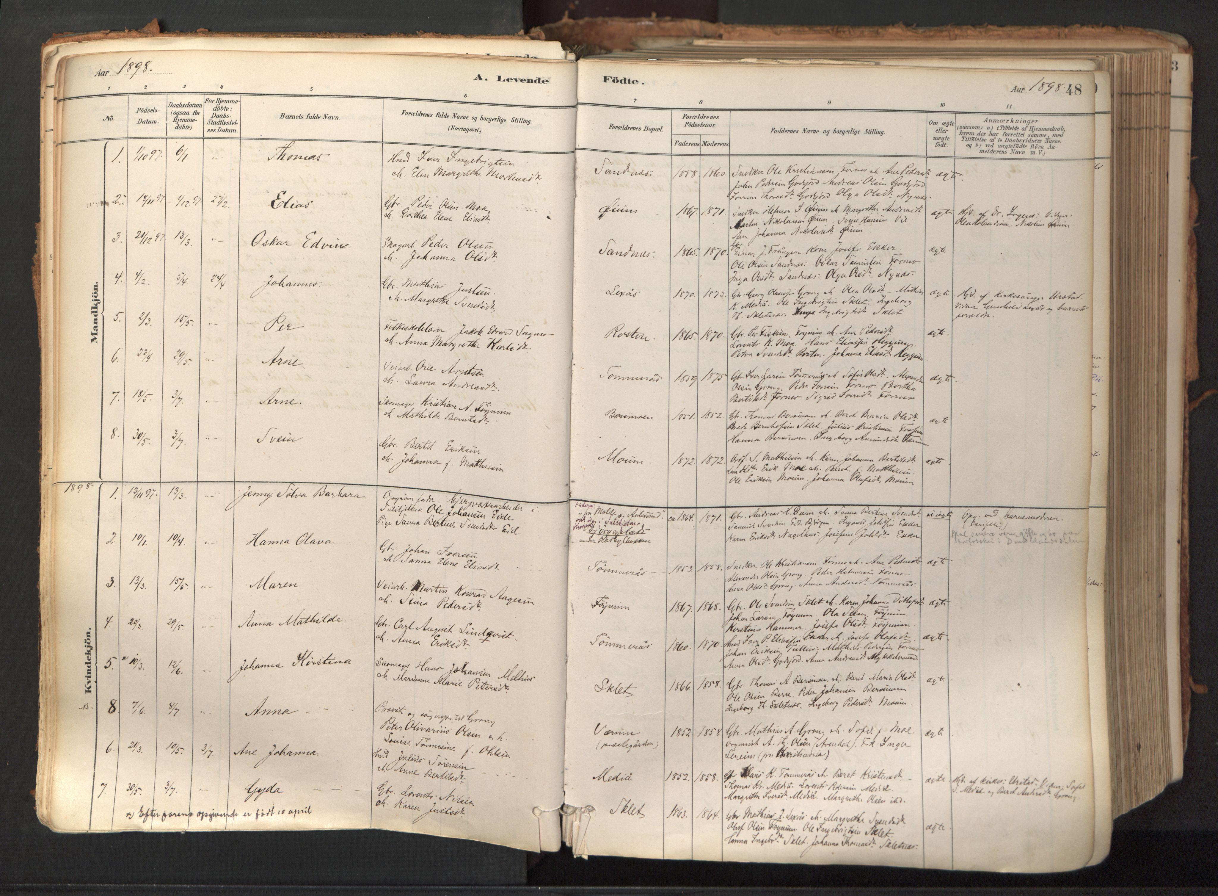 SAT, Ministerialprotokoller, klokkerbøker og fødselsregistre - Nord-Trøndelag, 758/L0519: Ministerialbok nr. 758A04, 1880-1926, s. 48