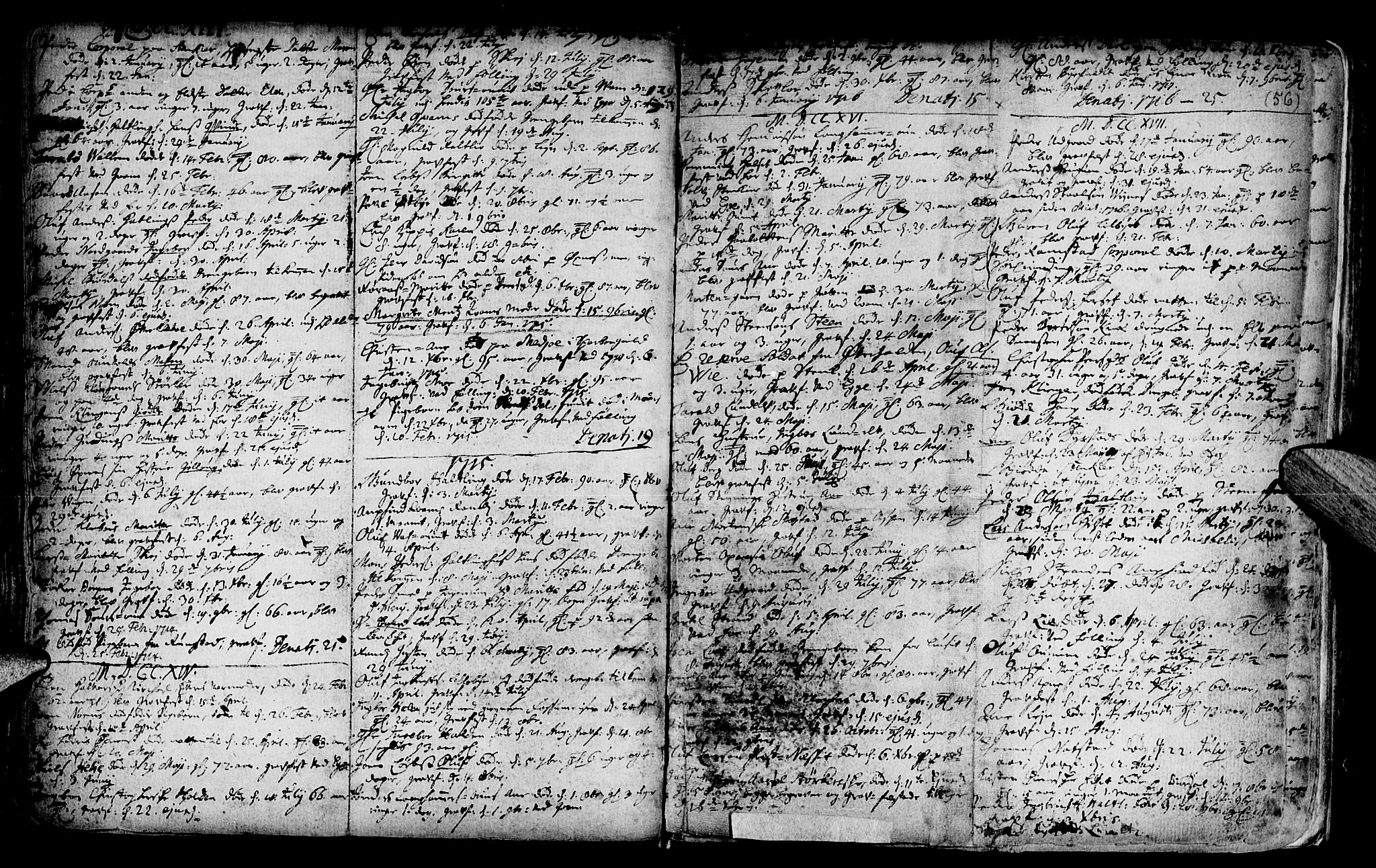 SAT, Ministerialprotokoller, klokkerbøker og fødselsregistre - Nord-Trøndelag, 746/L0439: Ministerialbok nr. 746A01, 1688-1759, s. 56