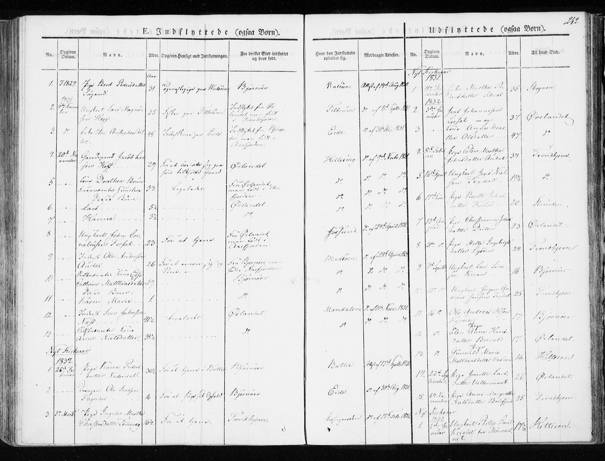 SAT, Ministerialprotokoller, klokkerbøker og fødselsregistre - Sør-Trøndelag, 655/L0676: Ministerialbok nr. 655A05, 1830-1847, s. 242