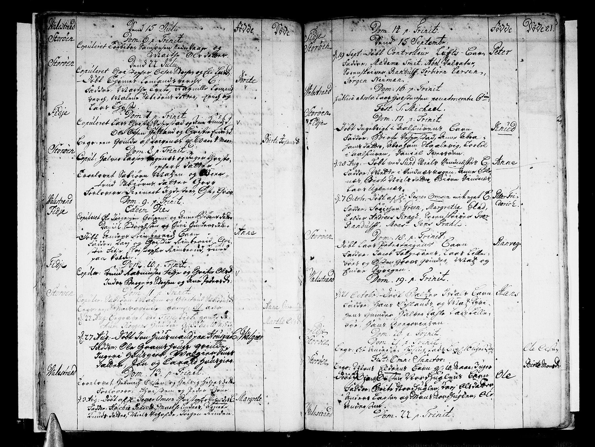 SAB, Stord Sokneprestembete, H/Haa: Ministerialbok nr. A 1, 1725-1744, s. 21