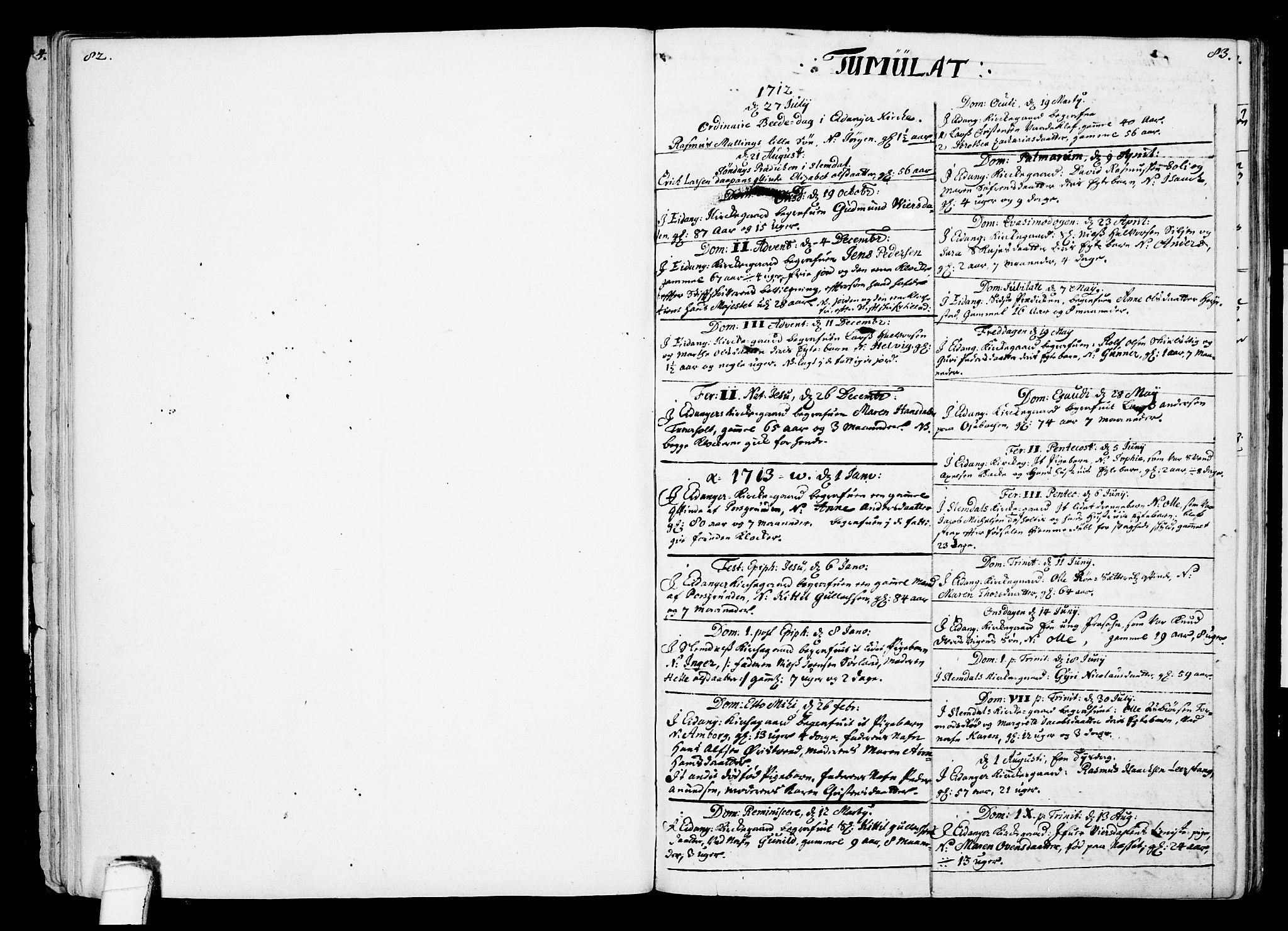SAKO, Eidanger kirkebøker, F/Fa/L0002: Ministerialbok nr. 2, 1712-1720, s. 82-83