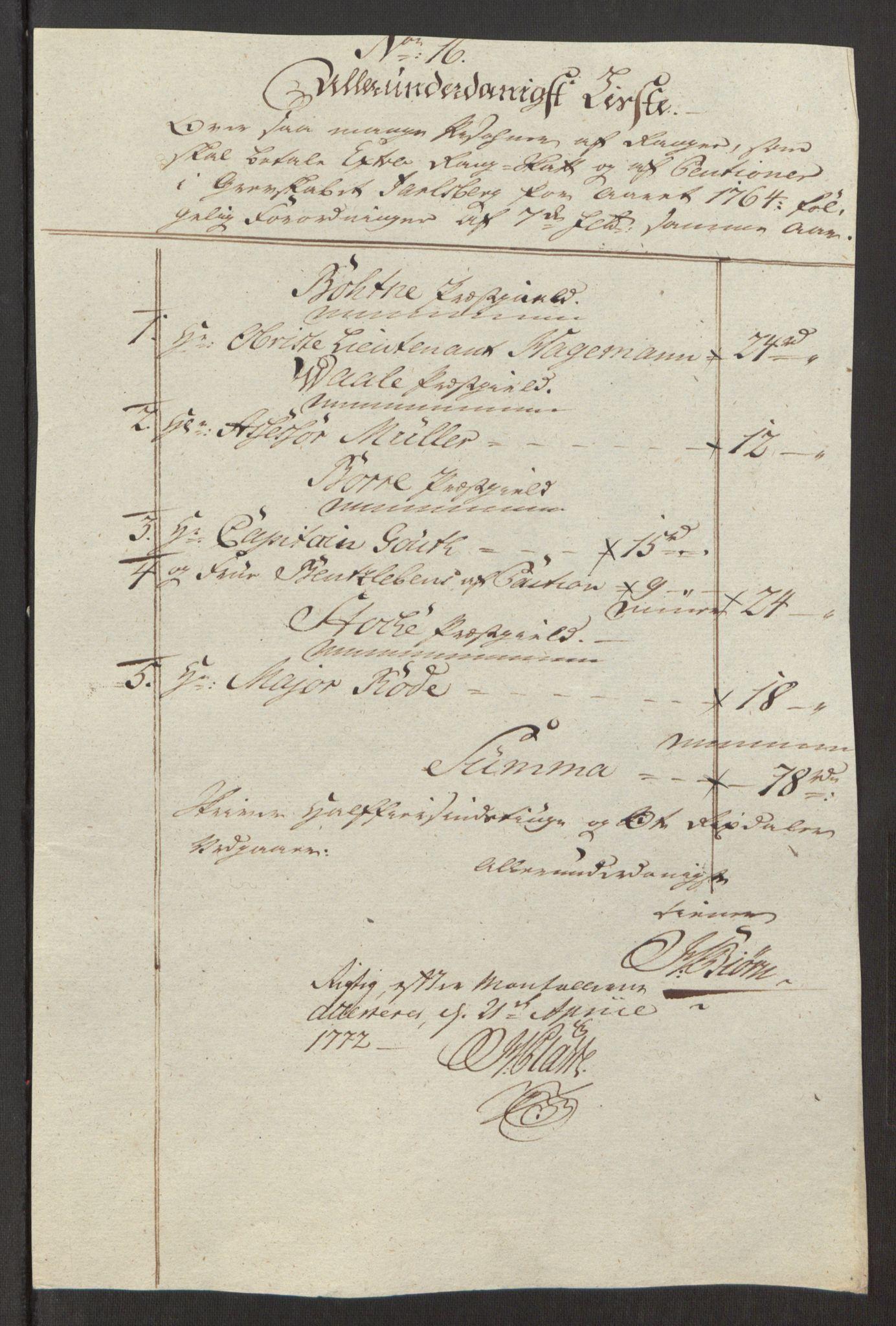 RA, Rentekammeret inntil 1814, Reviderte regnskaper, Fogderegnskap, R32/L1960: Ekstraskatten Jarlsberg grevskap, 1762-1772, s. 67