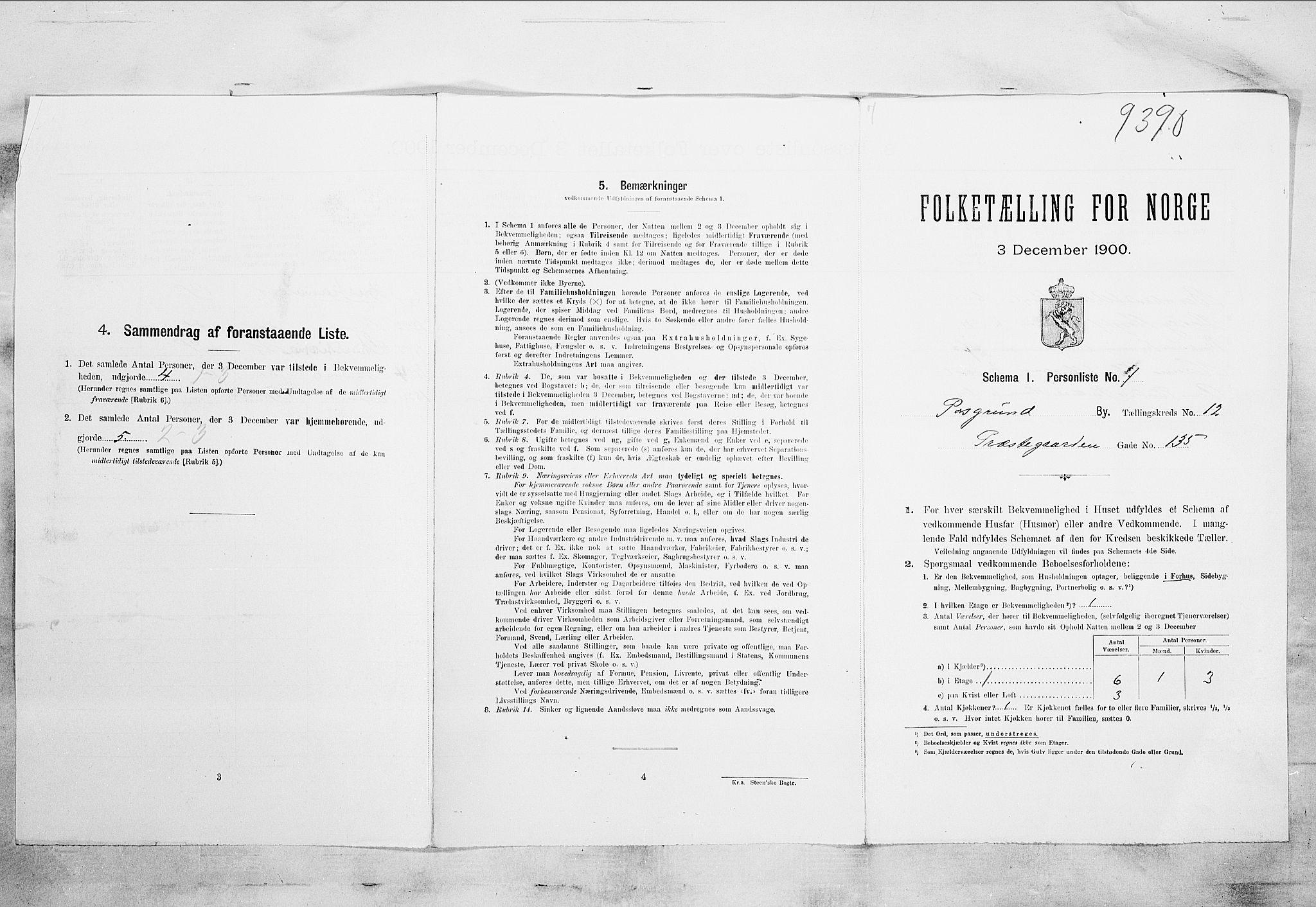 SAKO, Folketelling 1900 for 0805 Porsgrunn kjøpstad, 1900, s. 2182