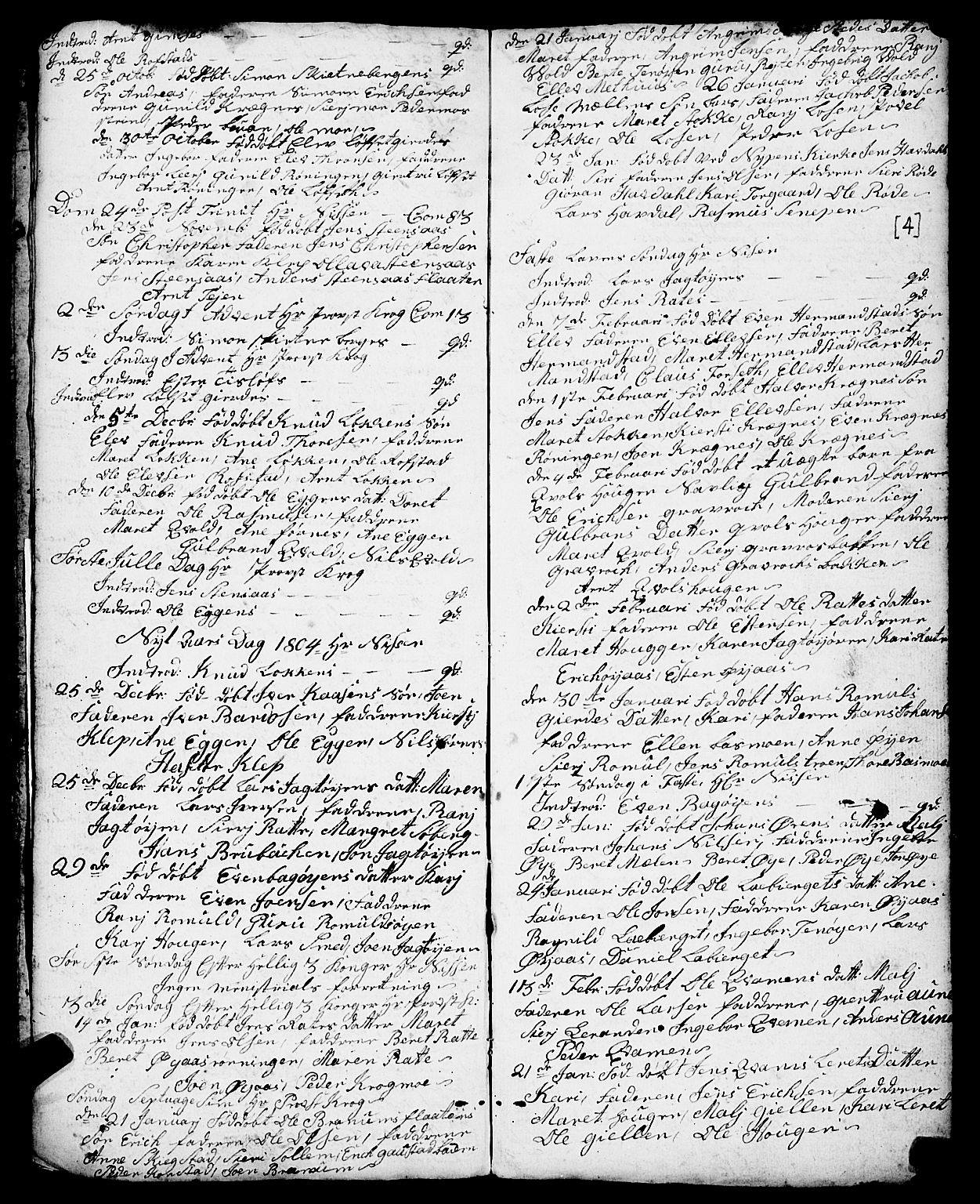SAT, Ministerialprotokoller, klokkerbøker og fødselsregistre - Sør-Trøndelag, 691/L1091: Klokkerbok nr. 691C02, 1802-1815, s. 4