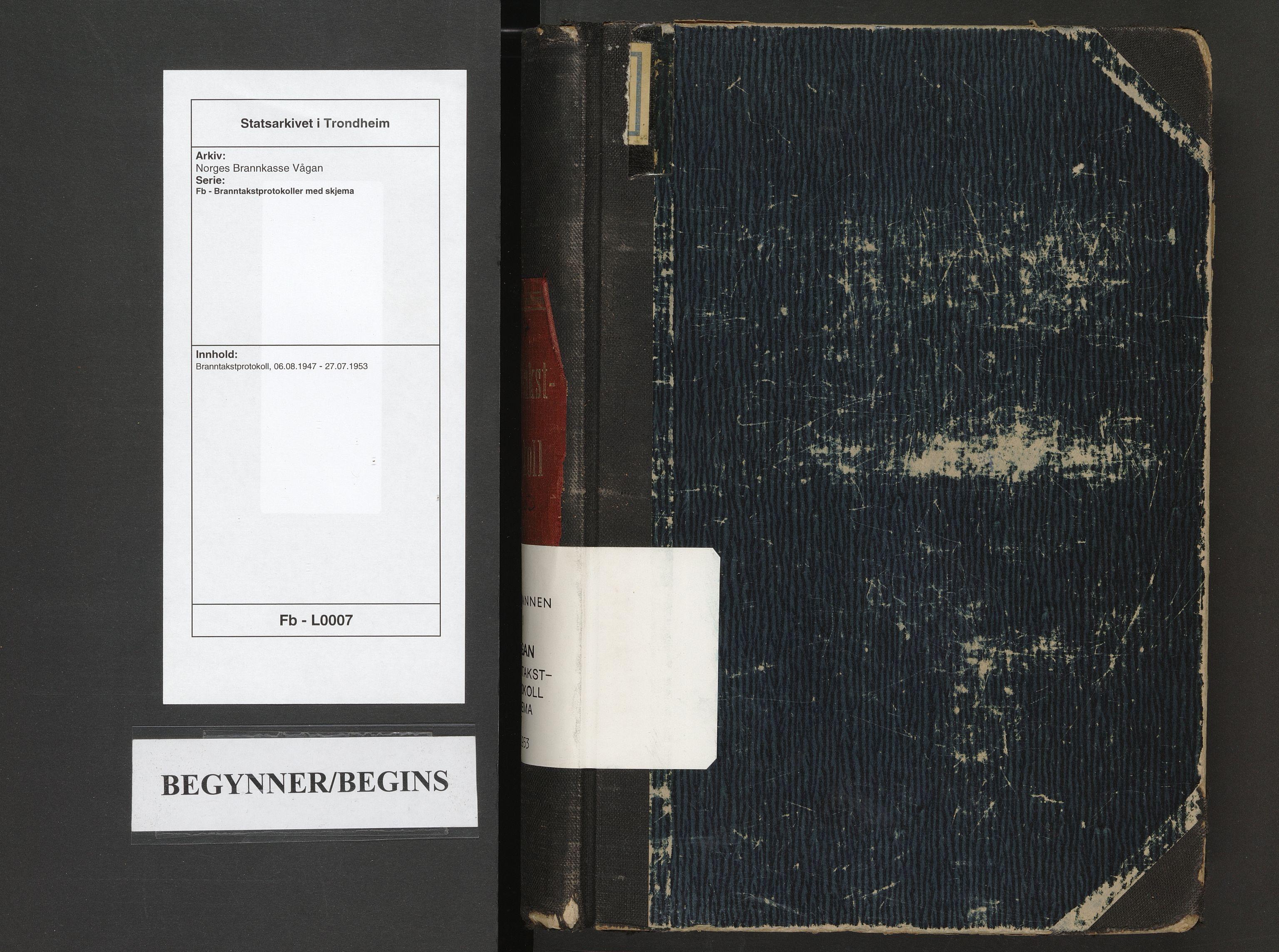 SAT, Norges Brannkasse Vågan, Fb/L0007: Branntakstprotokoll, 1947-1953