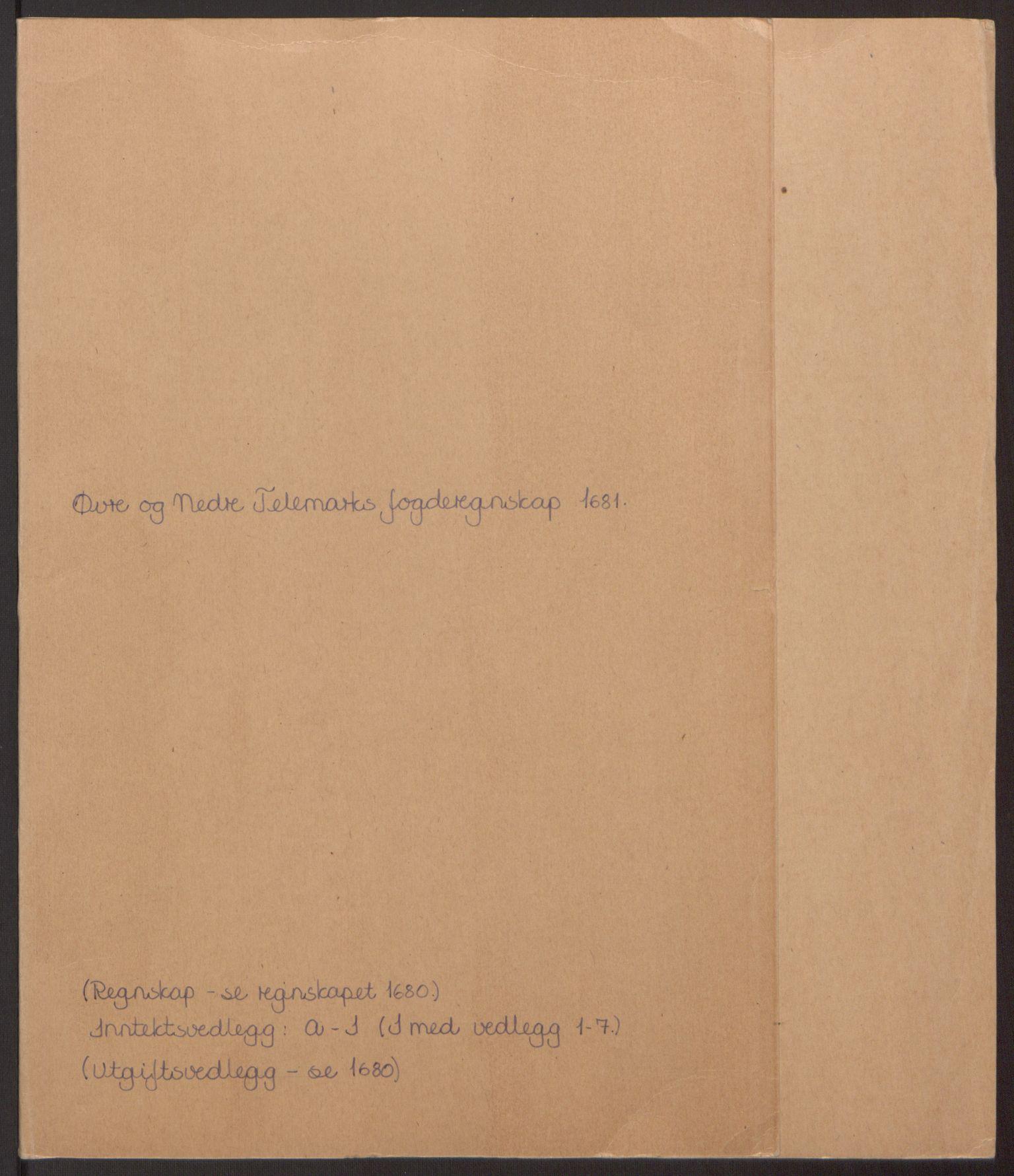 RA, Rentekammeret inntil 1814, Reviderte regnskaper, Fogderegnskap, R35/L2077: Fogderegnskap Øvre og Nedre Telemark, 1680-1684, s. 2