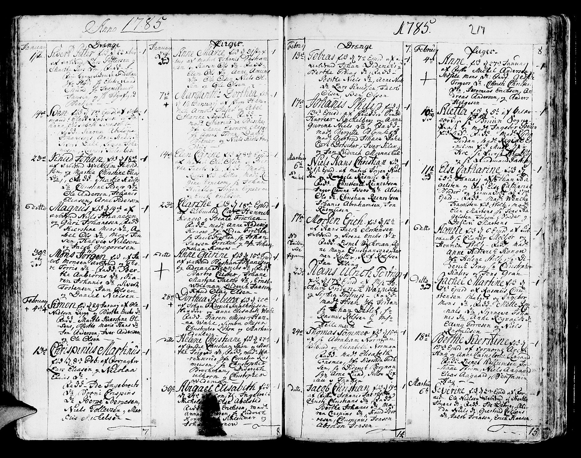 SAB, Korskirken Sokneprestembete, H/Haa/L0005: Ministerialbok nr. A 5, 1751-1789, s. 217