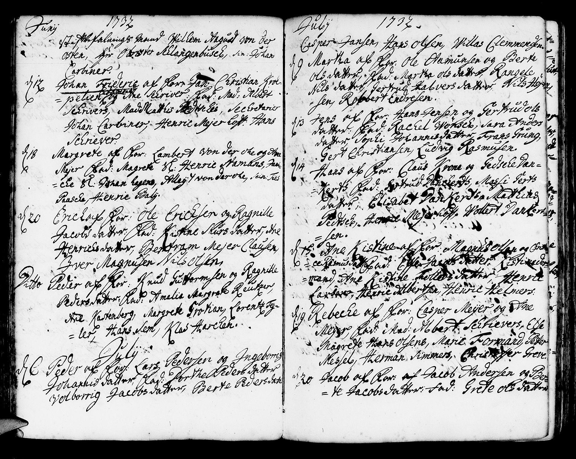 SAB, Korskirken Sokneprestembete, H/Haa/L0004: Ministerialbok nr. A 4, 1720-1750, s. 112