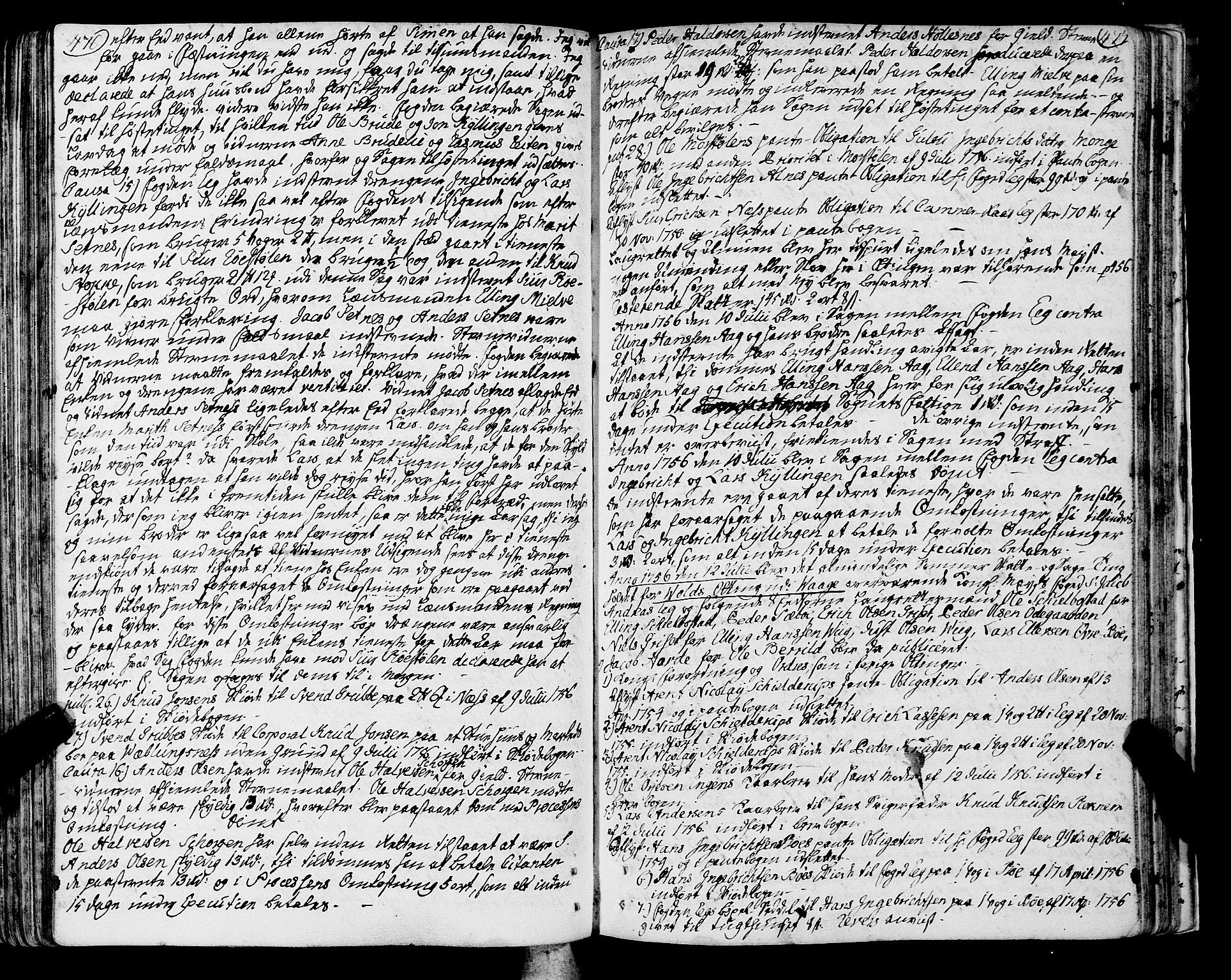SAT, Romsdal sorenskriveri, 1/1A/L0013: Tingbok, 1749-1757, s. 476-477