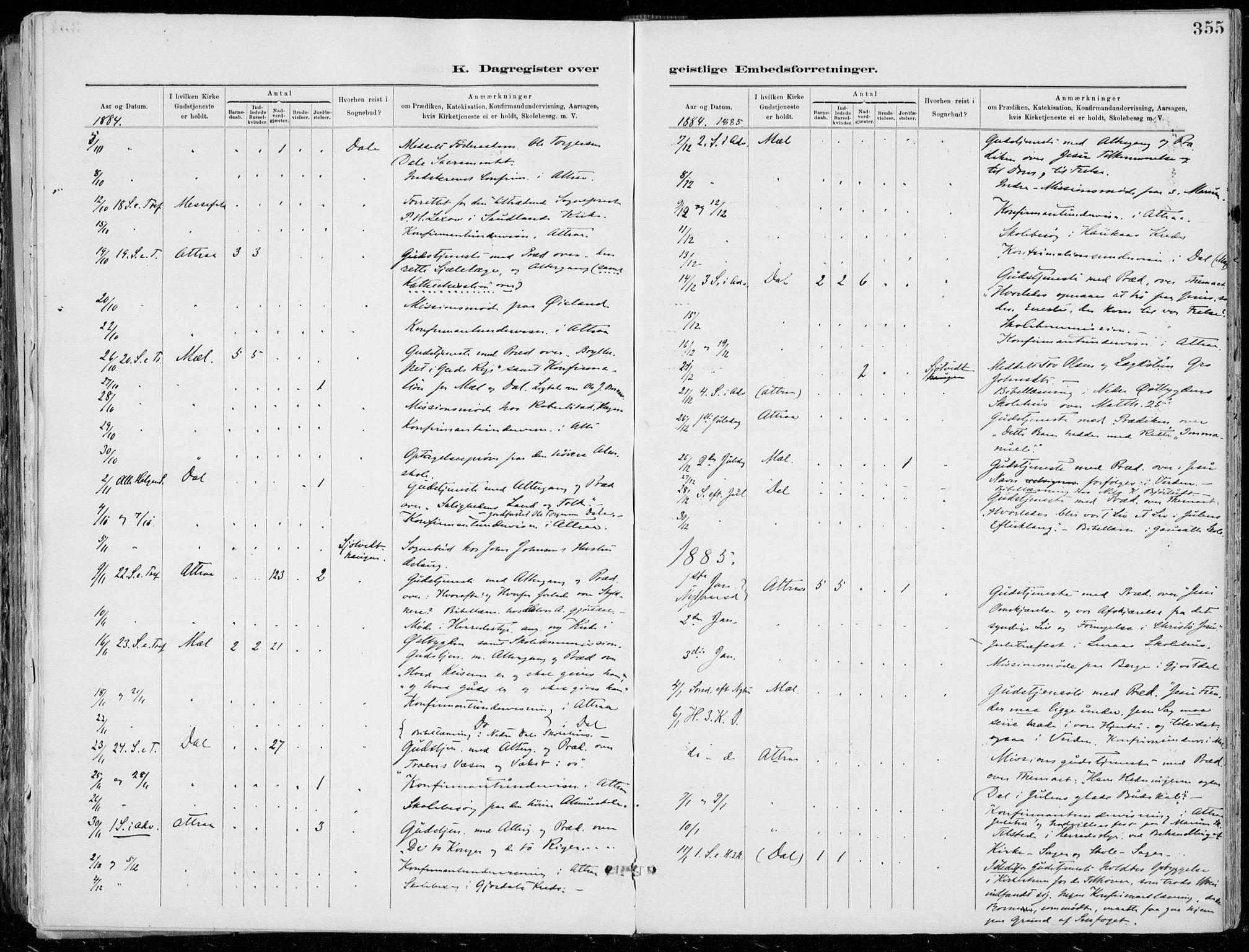 SAKO, Tinn kirkebøker, F/Fa/L0007: Ministerialbok nr. I 7, 1878-1922, s. 355