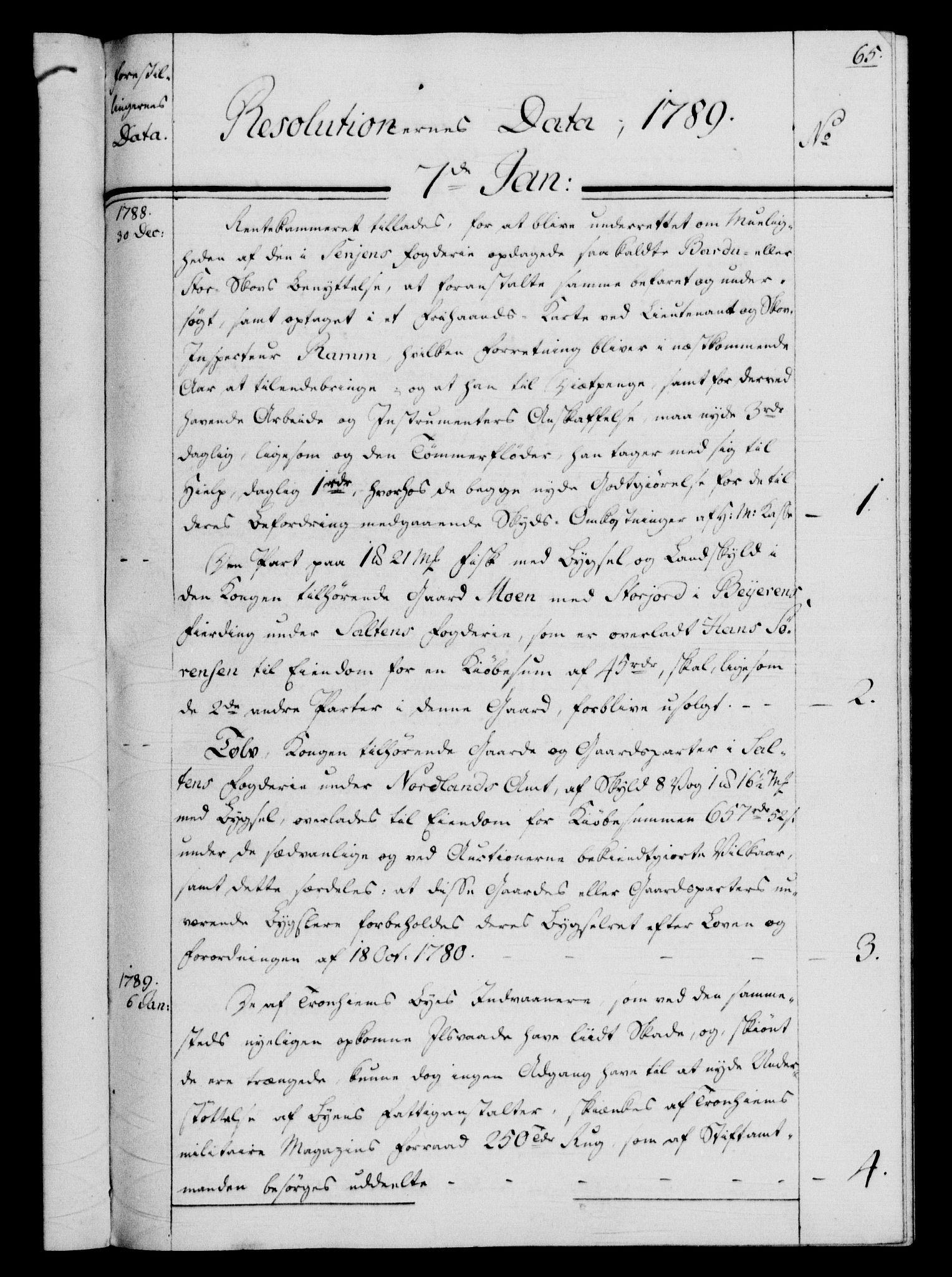 RA, Rentekammeret, Kammerkanselliet, G/Gf/Gfb/L0013: Register til norske relasjons- og resolusjonsprotokoller (merket RK 52.108), 1786-1793, s. 1065a