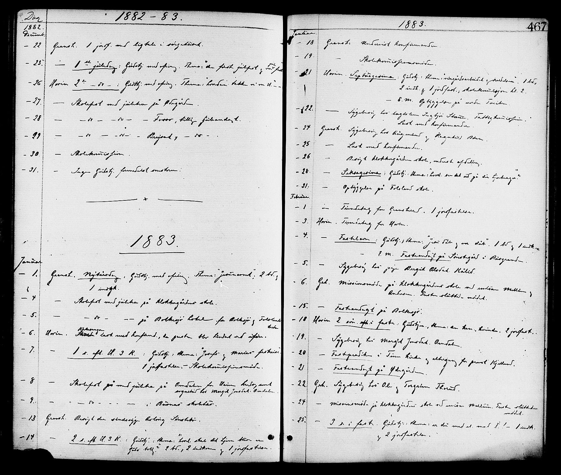 SAKO, Gransherad kirkebøker, F/Fa/L0004: Ministerialbok nr. I 4, 1871-1886, s. 467