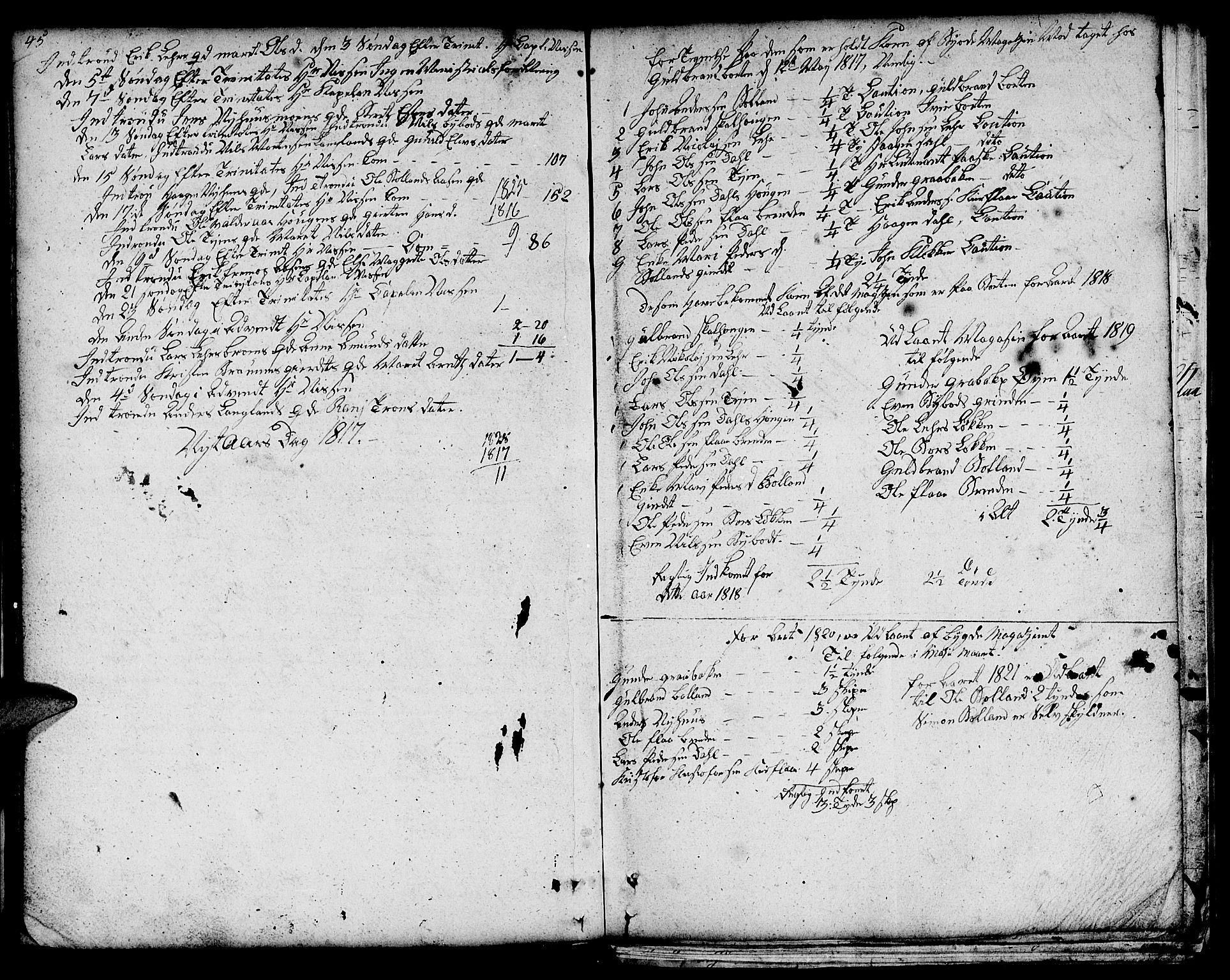 SAT, Ministerialprotokoller, klokkerbøker og fødselsregistre - Sør-Trøndelag, 693/L1120: Klokkerbok nr. 693C01, 1799-1816, s. 45-46
