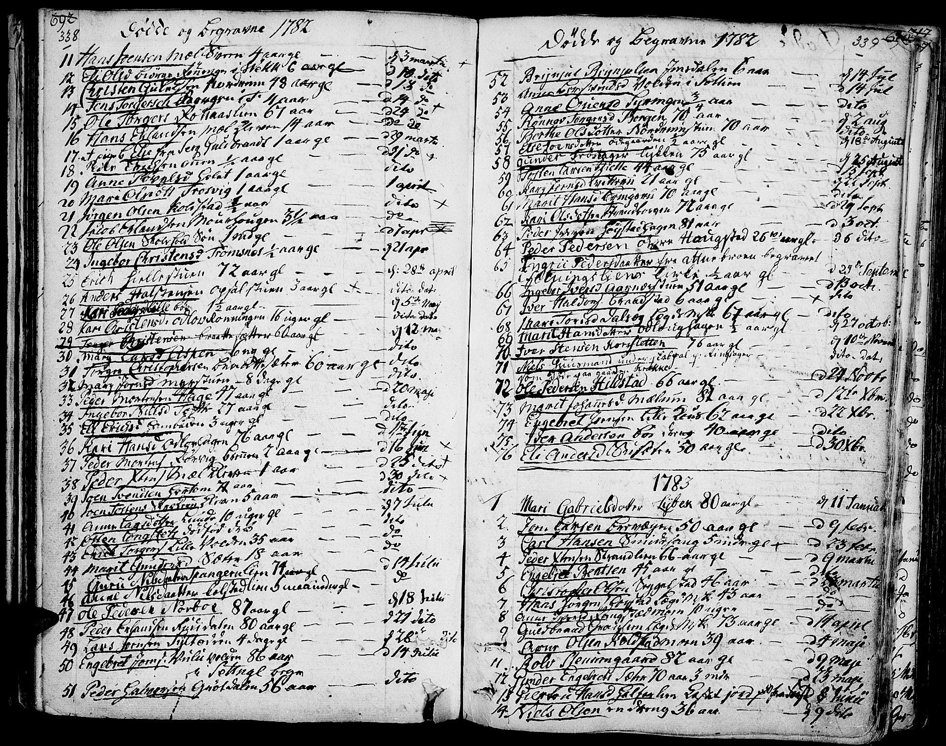 SAH, Ringebu prestekontor, Ministerialbok nr. 3, 1781-1820, s. 338-339