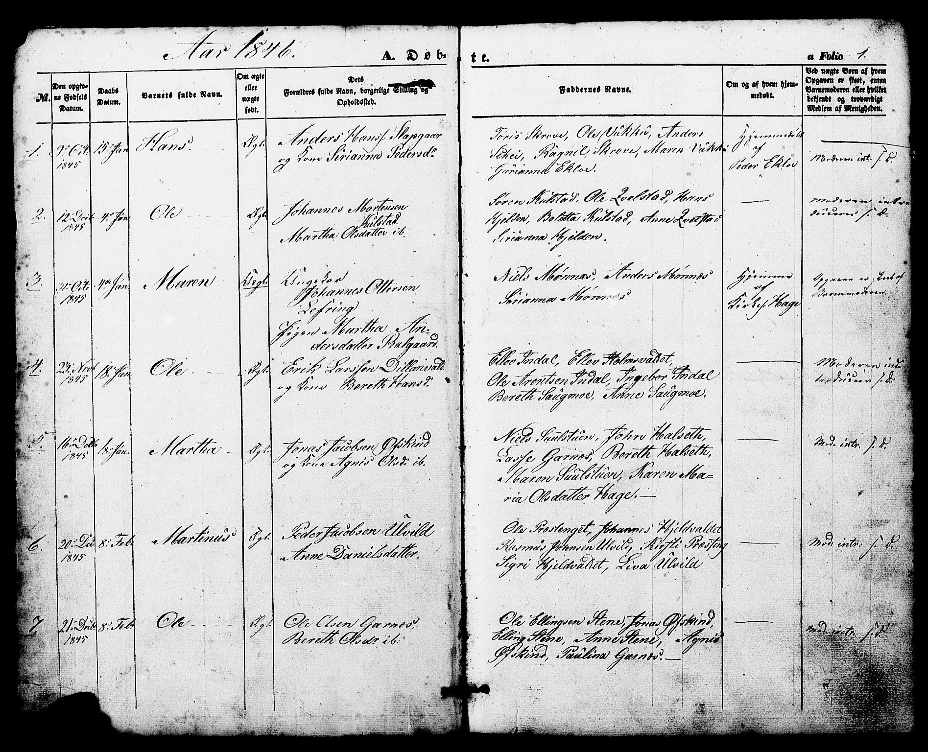 SAT, Ministerialprotokoller, klokkerbøker og fødselsregistre - Nord-Trøndelag, 724/L0268: Klokkerbok nr. 724C04, 1846-1878, s. 1