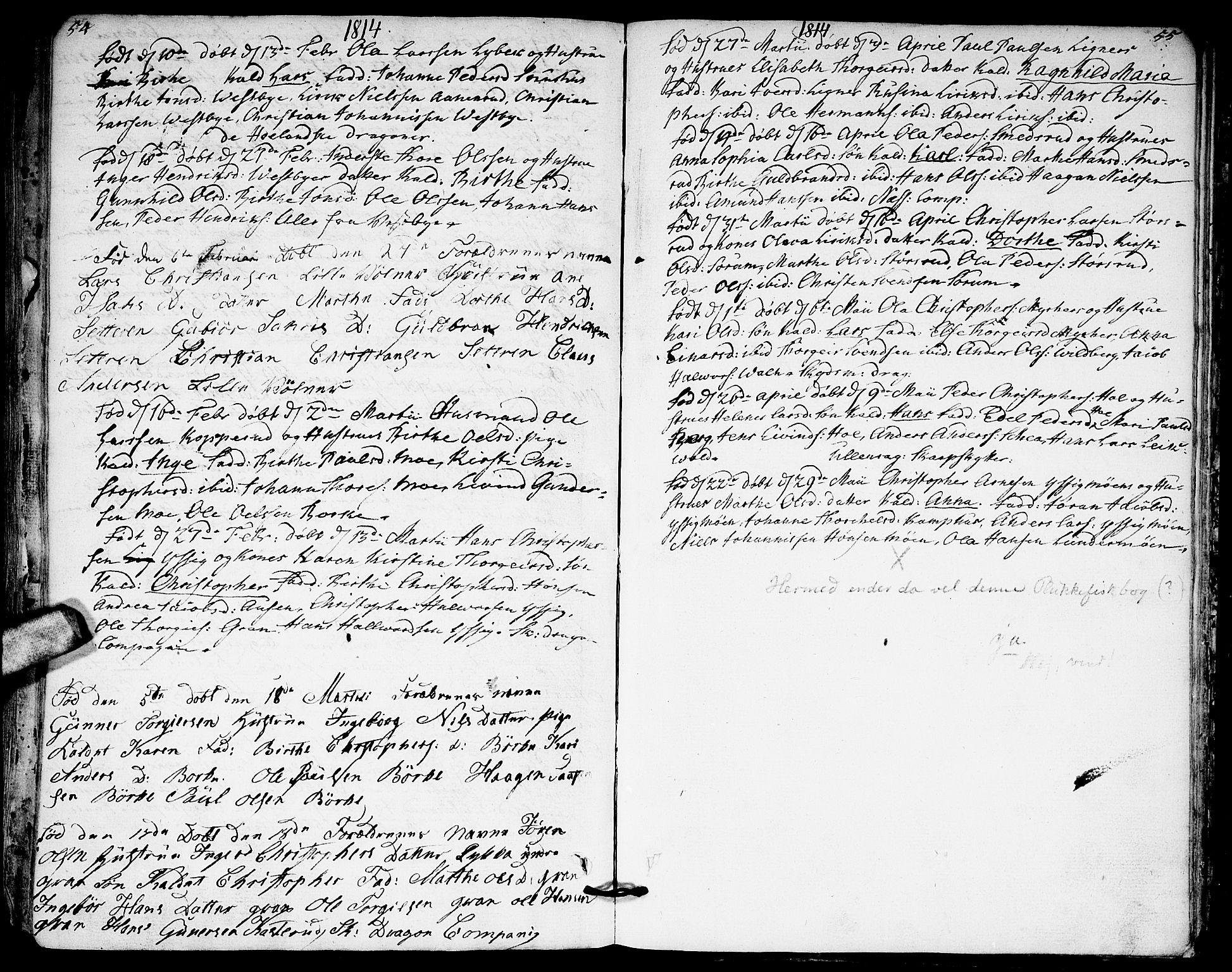 SAO, Sørum prestekontor Kirkebøker, F/Fa/L0002: Ministerialbok nr. I 2, 1759-1814, s. 54-55