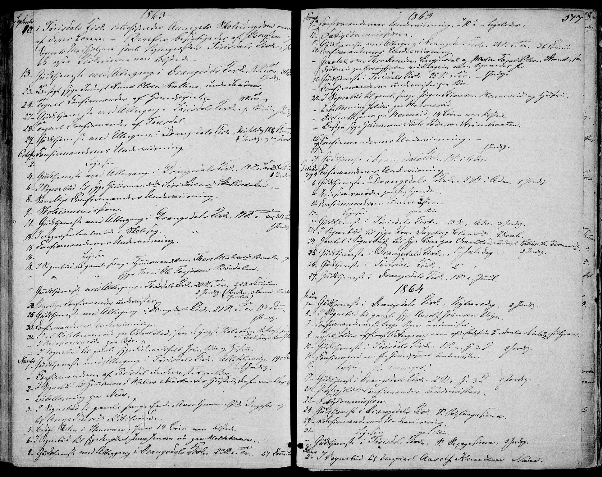 SAKO, Drangedal kirkebøker, F/Fa/L0008: Ministerialbok nr. 8, 1857-1871, s. 517