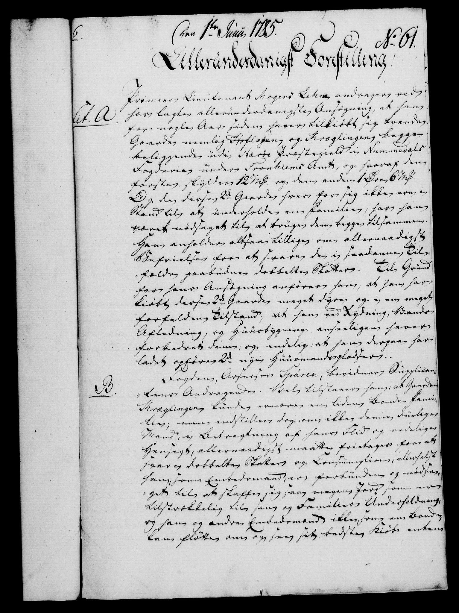 RA, Rentekammeret, Kammerkanselliet, G/Gf/Gfa/L0067: Norsk relasjons- og resolusjonsprotokoll (merket RK 52.67), 1785, s. 504