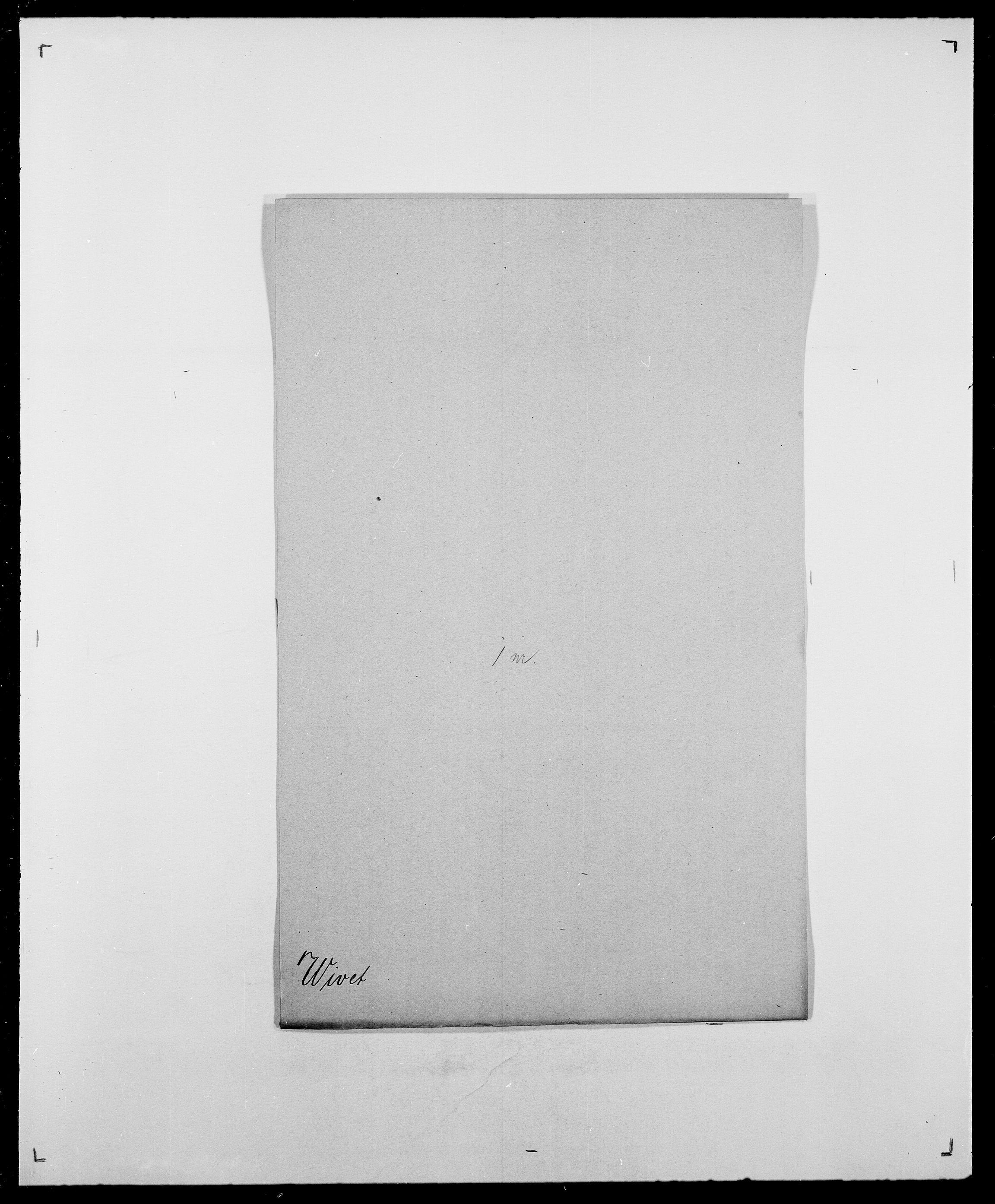 SAO, Delgobe, Charles Antoine - samling, D/Da/L0042: Vilain - Wulf, Wulff, se også Wolf, s. 534