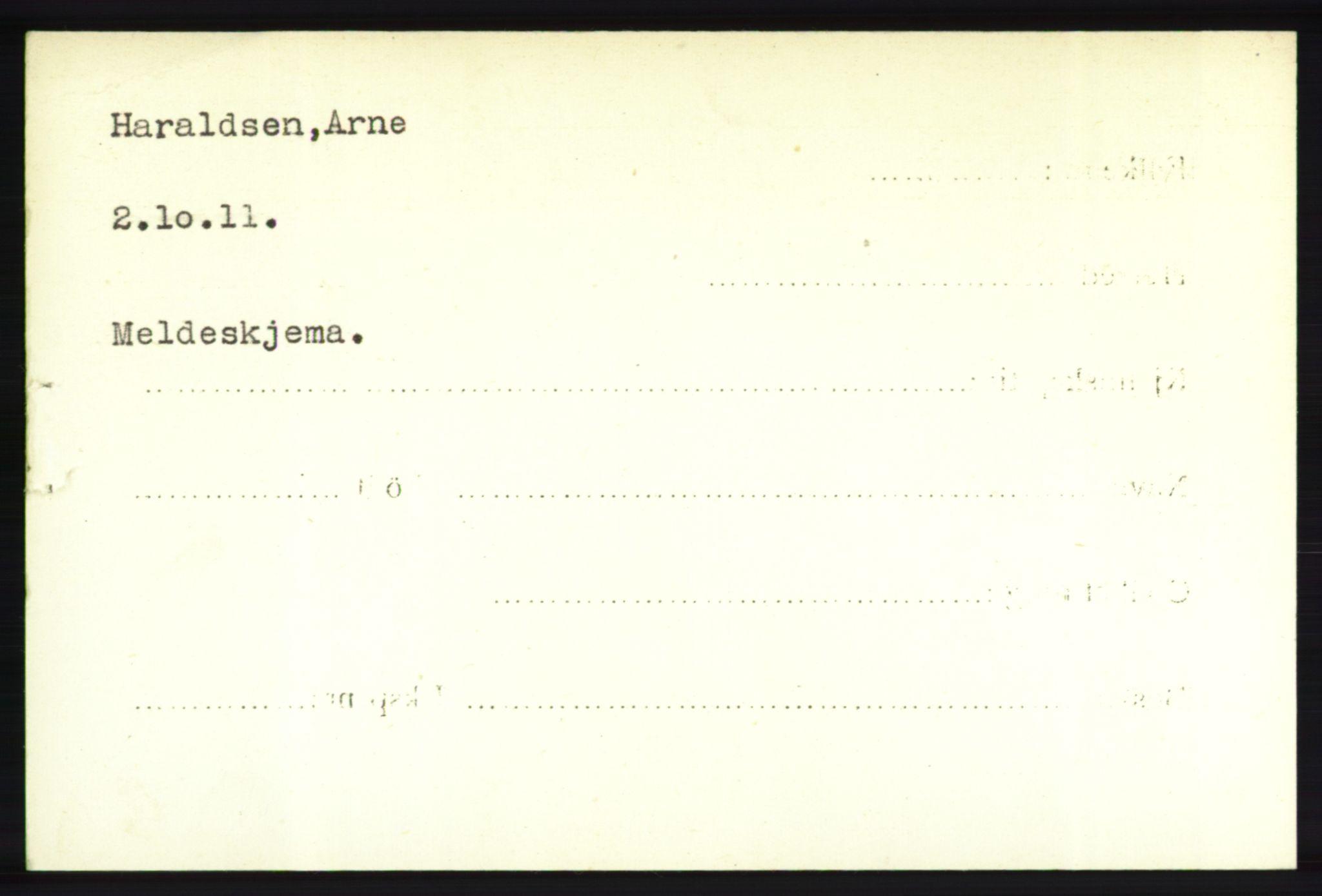 NHM, Forsvarets Overkommando. 2. kontor. Arkiv 8.1. Mottakersentralen FDE og FO.II, P/Pa/L0008: Kortsamling, 1940-1945, s. 2