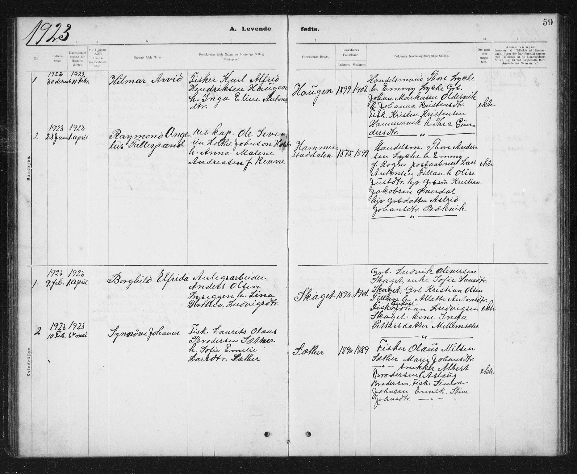 SAT, Ministerialprotokoller, klokkerbøker og fødselsregistre - Sør-Trøndelag, 637/L0563: Klokkerbok nr. 637C04, 1899-1940, s. 59