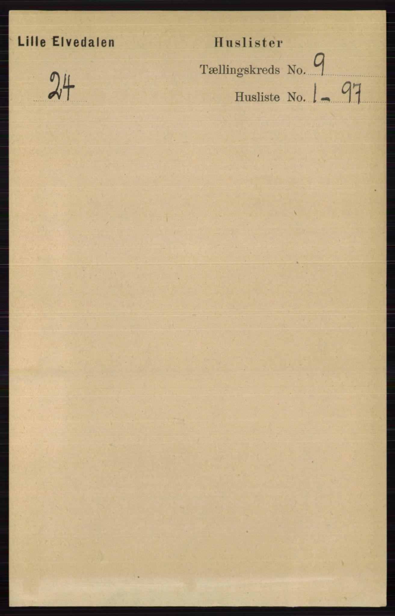 RA, Folketelling 1891 for 0438 Lille Elvedalen herred, 1891, s. 2698