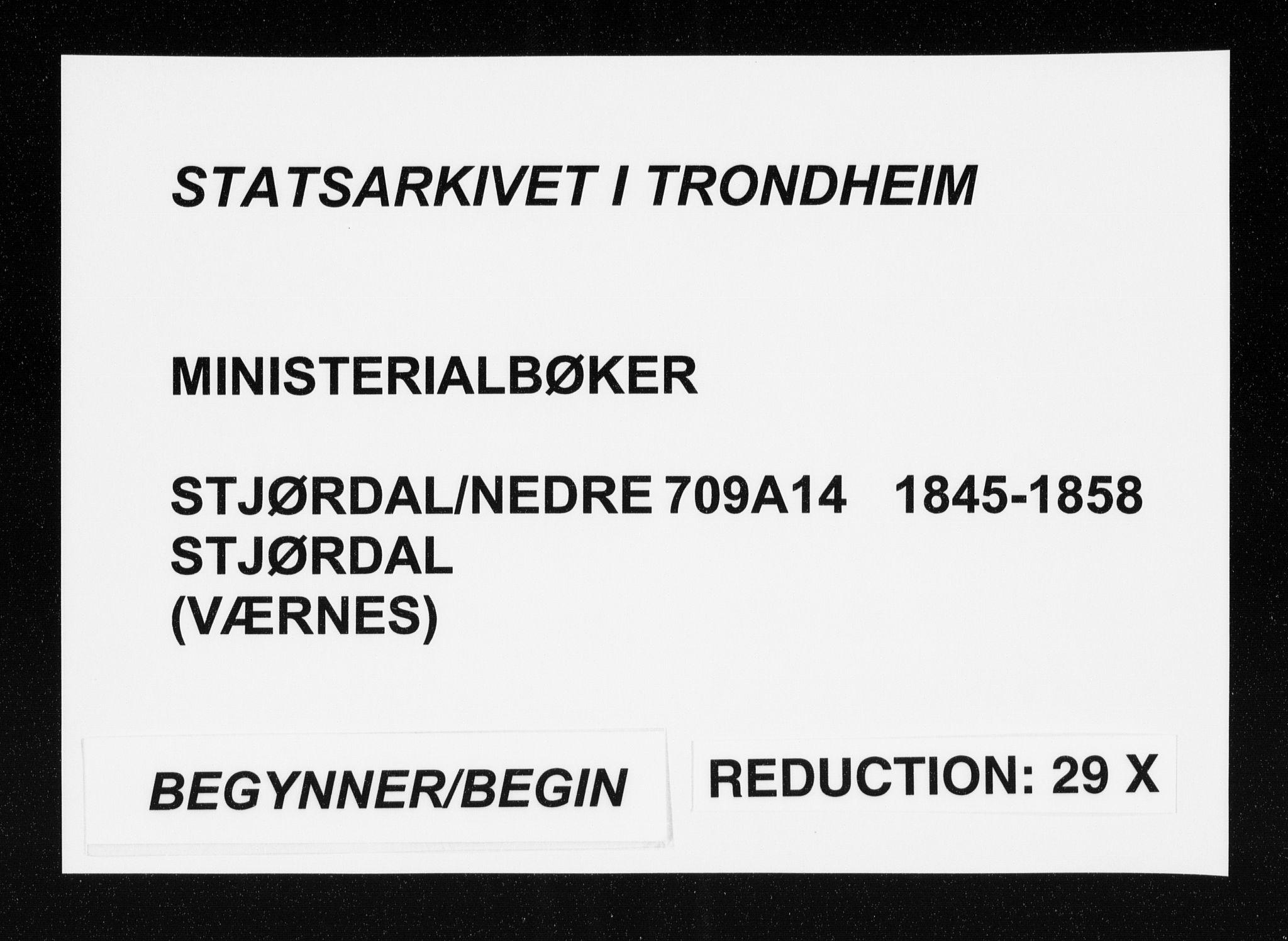 SAT, Ministerialprotokoller, klokkerbøker og fødselsregistre - Nord-Trøndelag, 709/L0074: Ministerialbok nr. 709A14, 1845-1858