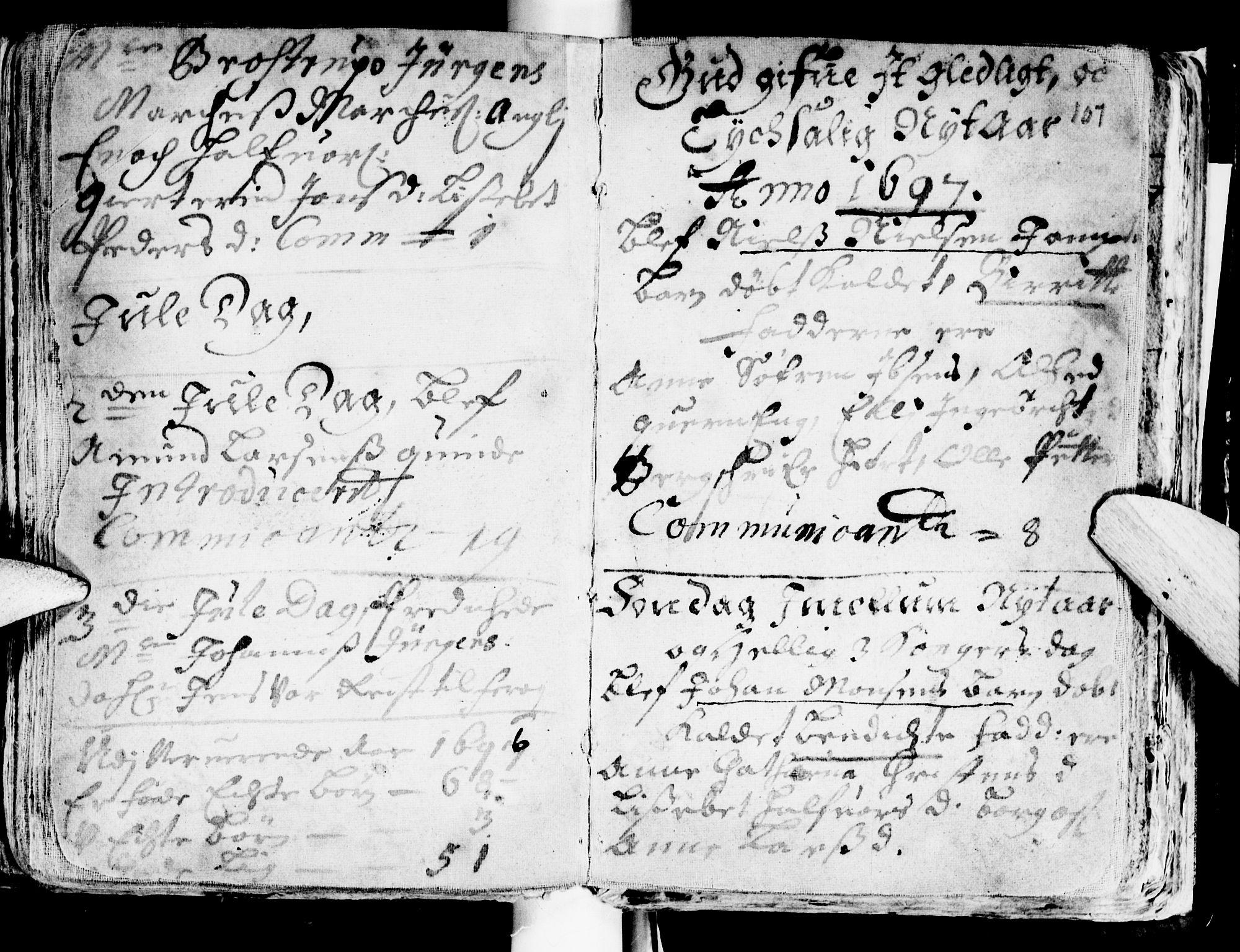 SAT, Ministerialprotokoller, klokkerbøker og fødselsregistre - Sør-Trøndelag, 681/L0923: Ministerialbok nr. 681A01, 1691-1700, s. 107