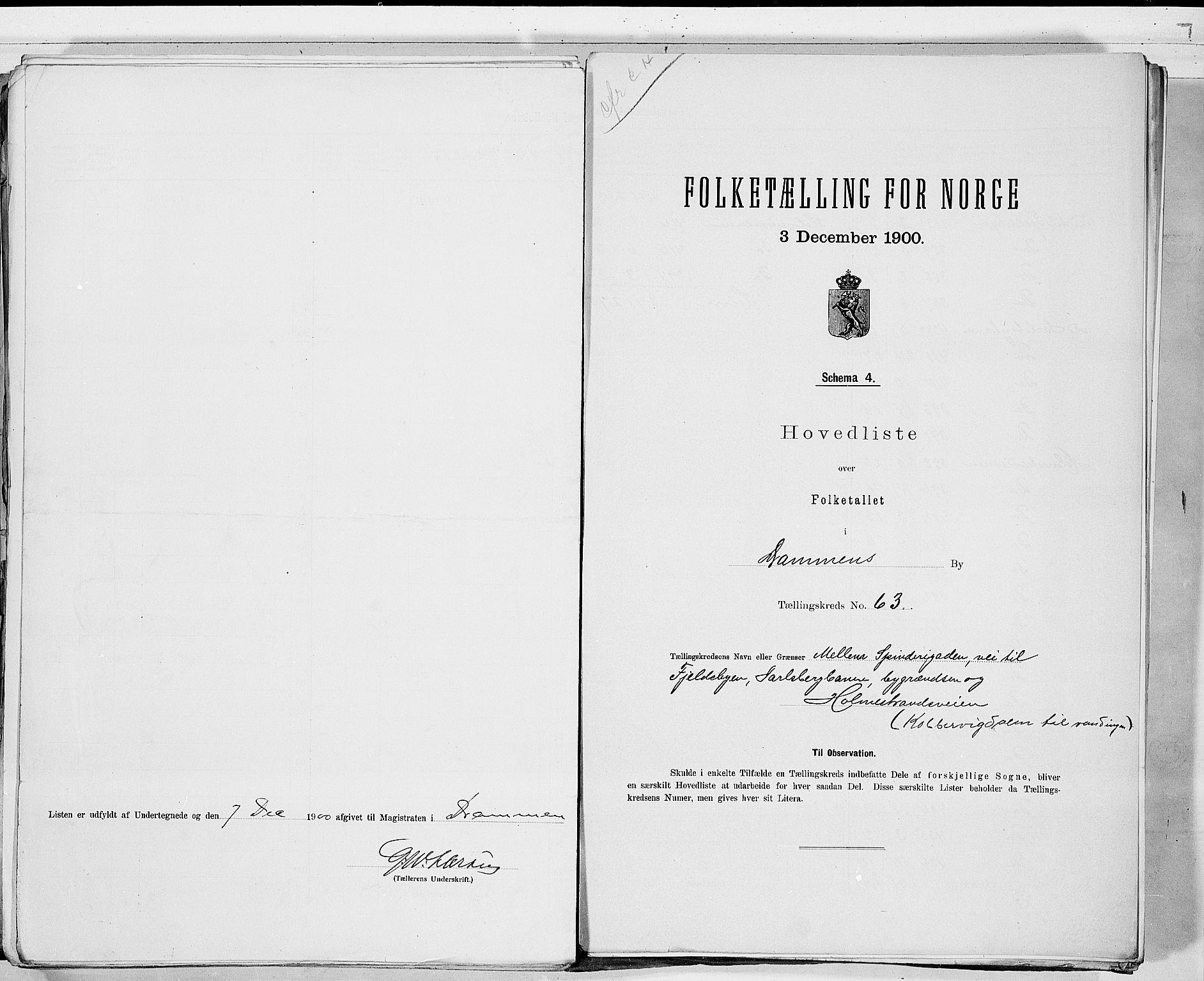 RA, Folketelling 1900 for 0602 Drammen kjøpstad, 1900, s. 131