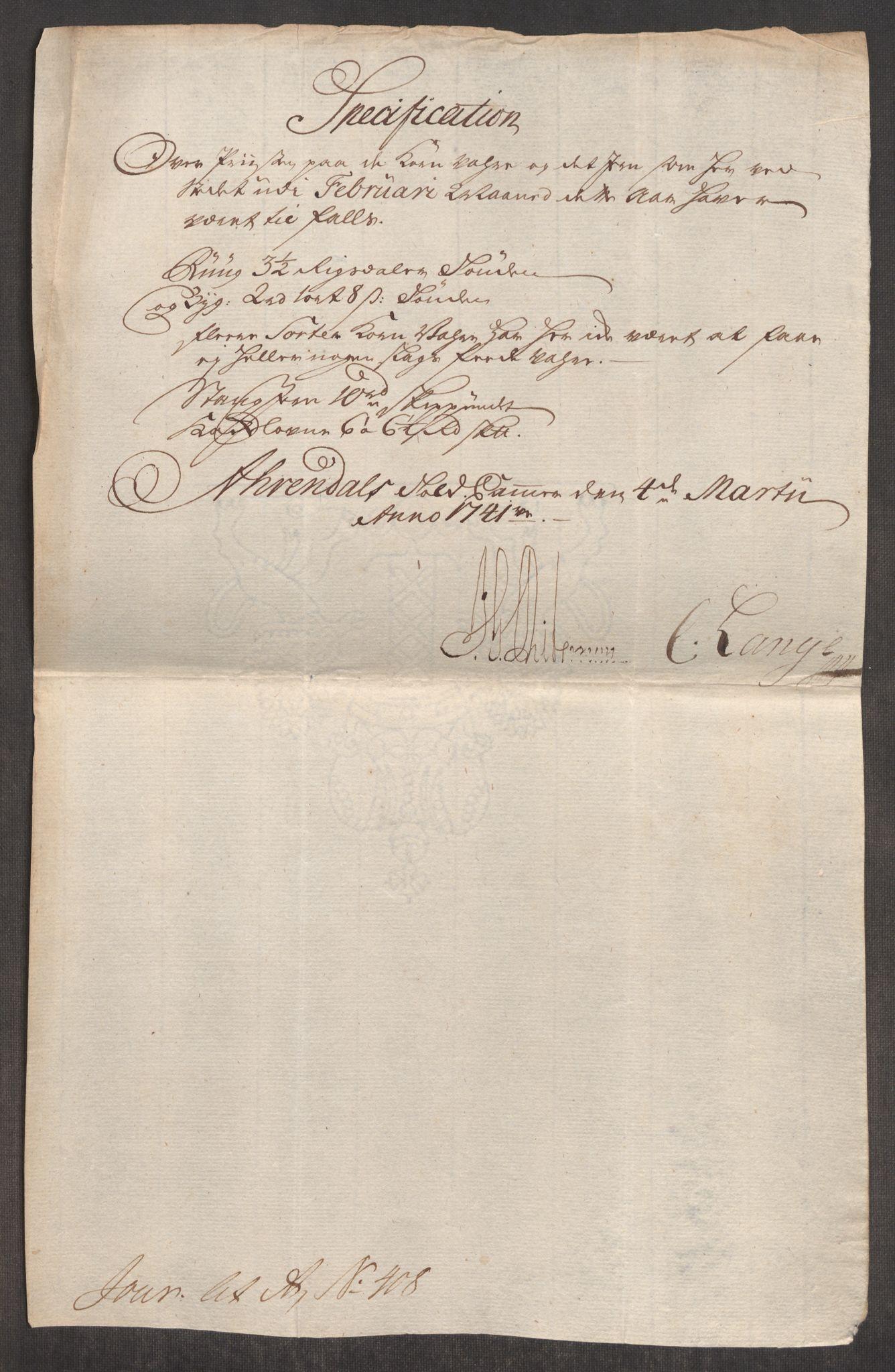 RA, Rentekammeret inntil 1814, Realistisk ordnet avdeling, Oe/L0002: [Ø1]: Priskuranter, 1740-1744, s. 349