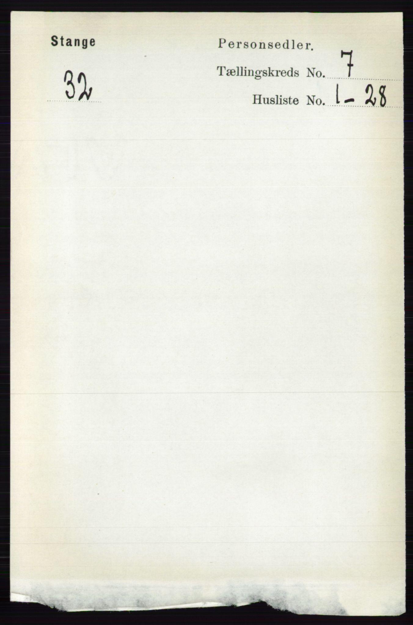 RA, Folketelling 1891 for 0417 Stange herred, 1891, s. 4764