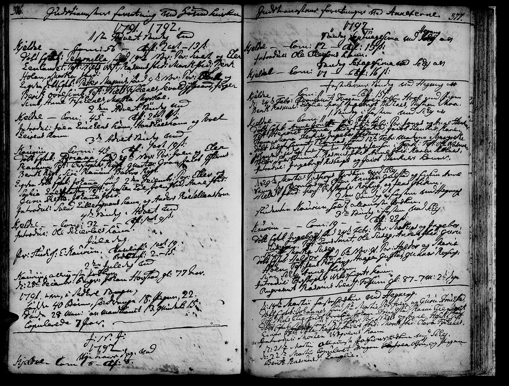 SAT, Ministerialprotokoller, klokkerbøker og fødselsregistre - Nord-Trøndelag, 735/L0331: Ministerialbok nr. 735A02, 1762-1794, s. 376-377
