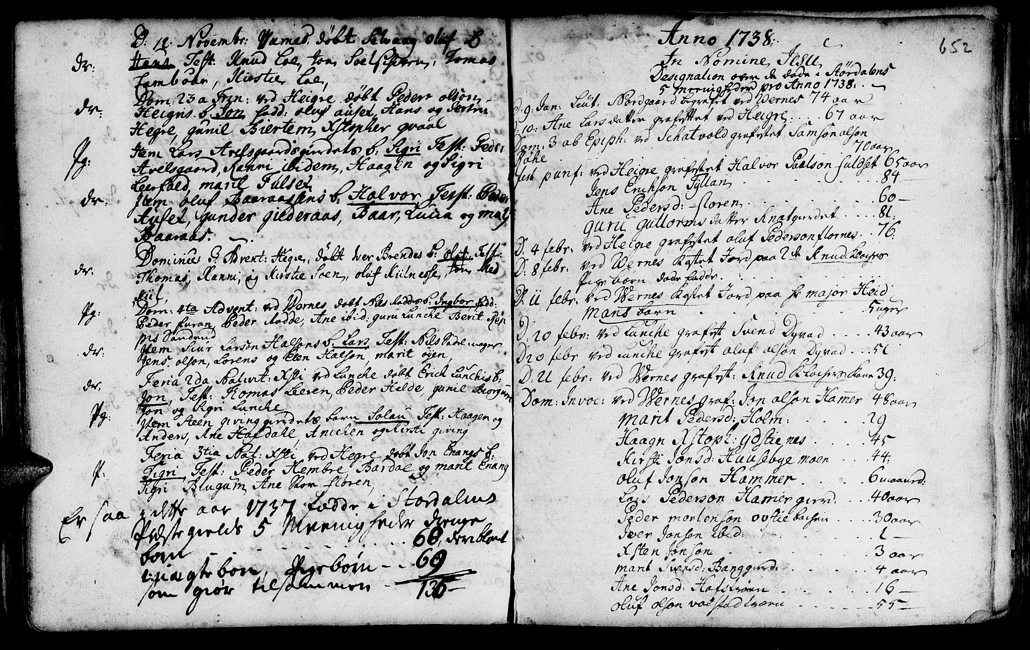 SAT, Ministerialprotokoller, klokkerbøker og fødselsregistre - Nord-Trøndelag, 709/L0055: Ministerialbok nr. 709A03, 1730-1739, s. 651-652