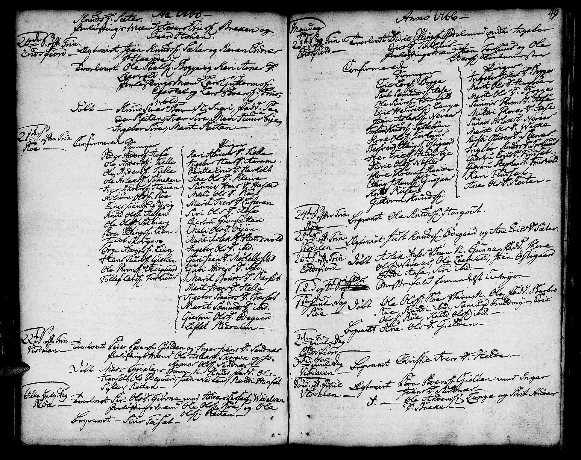 SAT, Ministerialprotokoller, klokkerbøker og fødselsregistre - Møre og Romsdal, 551/L0621: Ministerialbok nr. 551A01, 1757-1803, s. 49