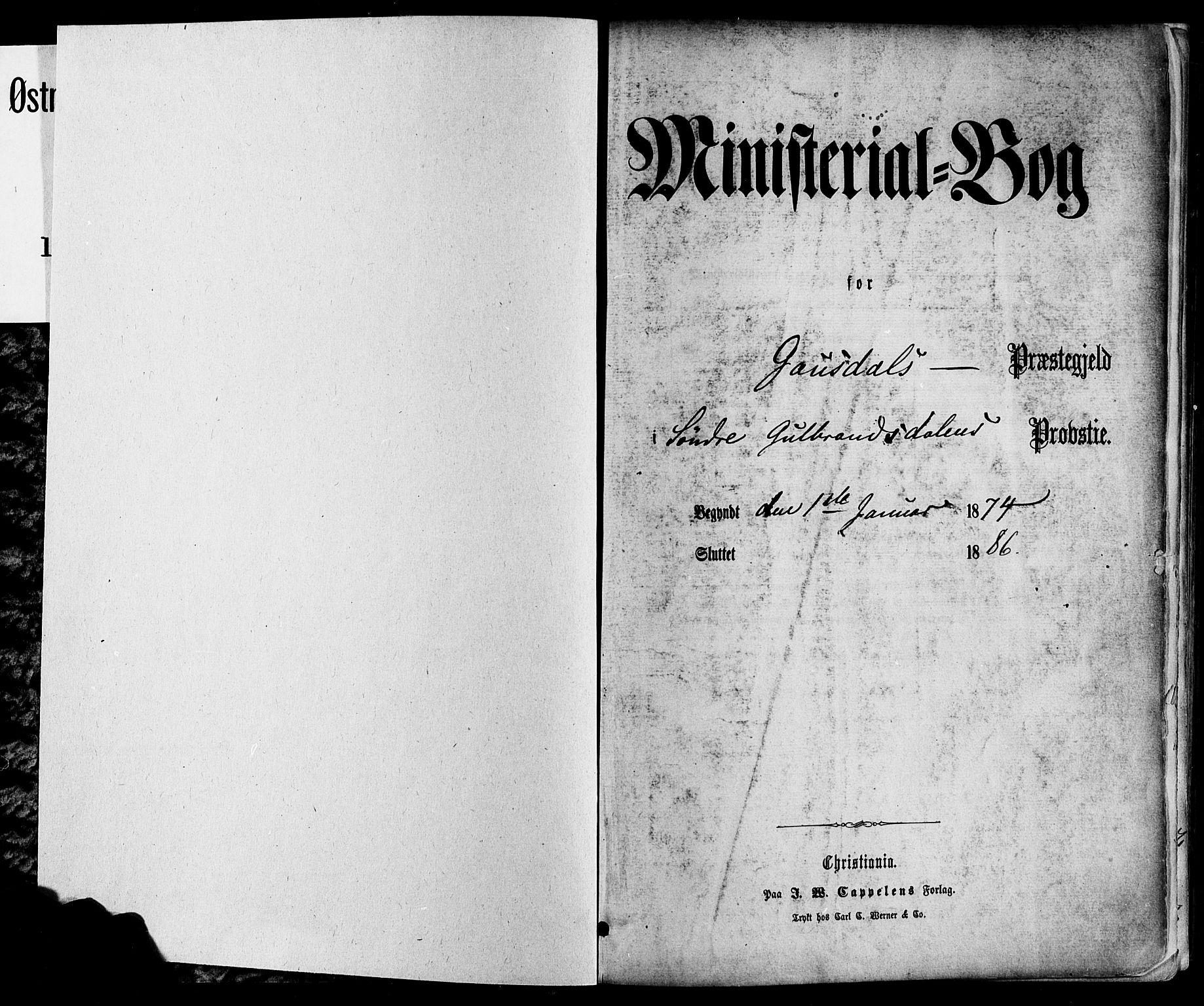 SAH, Østre Gausdal prestekontor, Ministerialbok nr. 1, 1874-1886