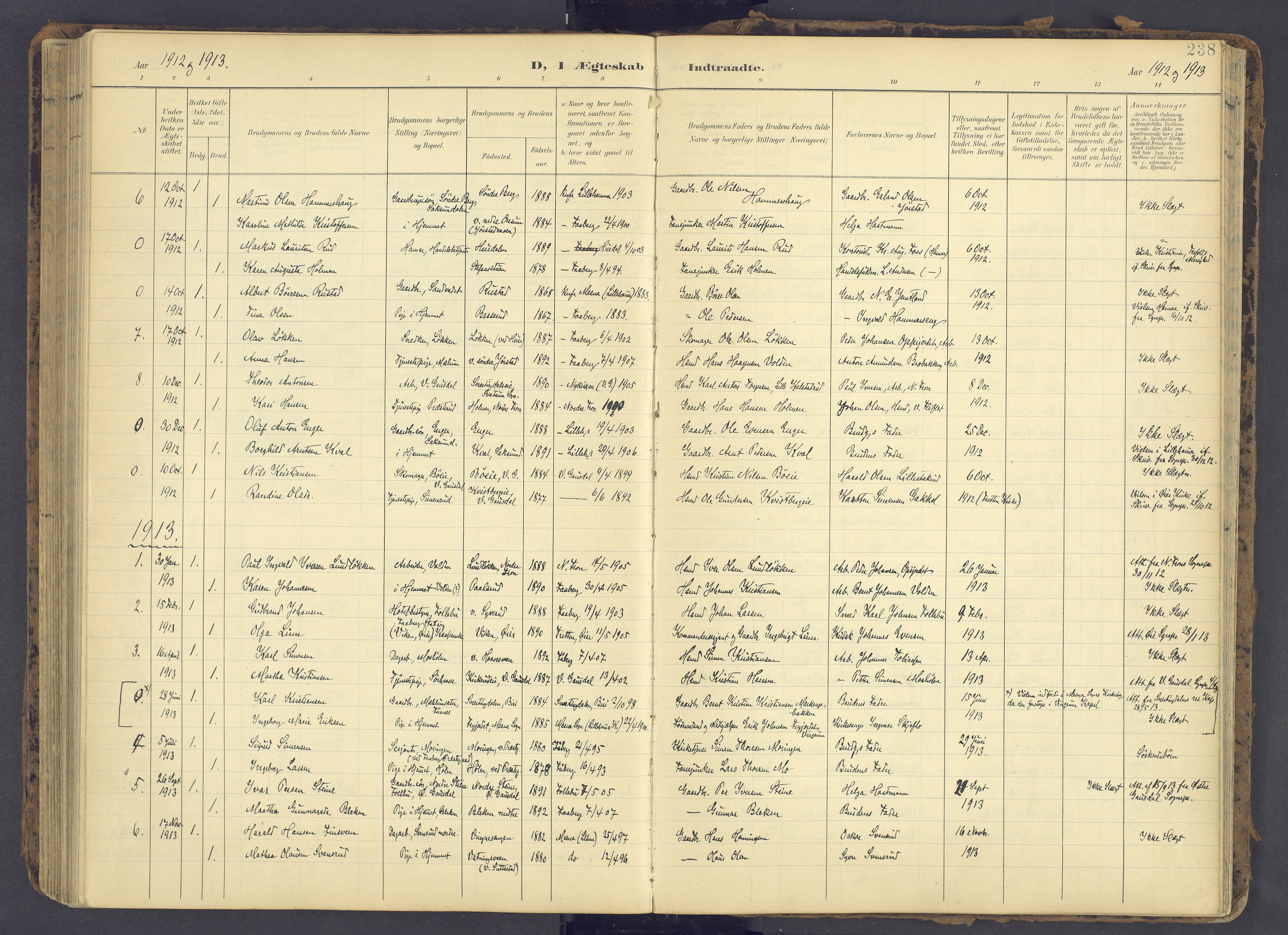SAH, Fåberg prestekontor, Ministerialbok nr. 12, 1899-1915, s. 238